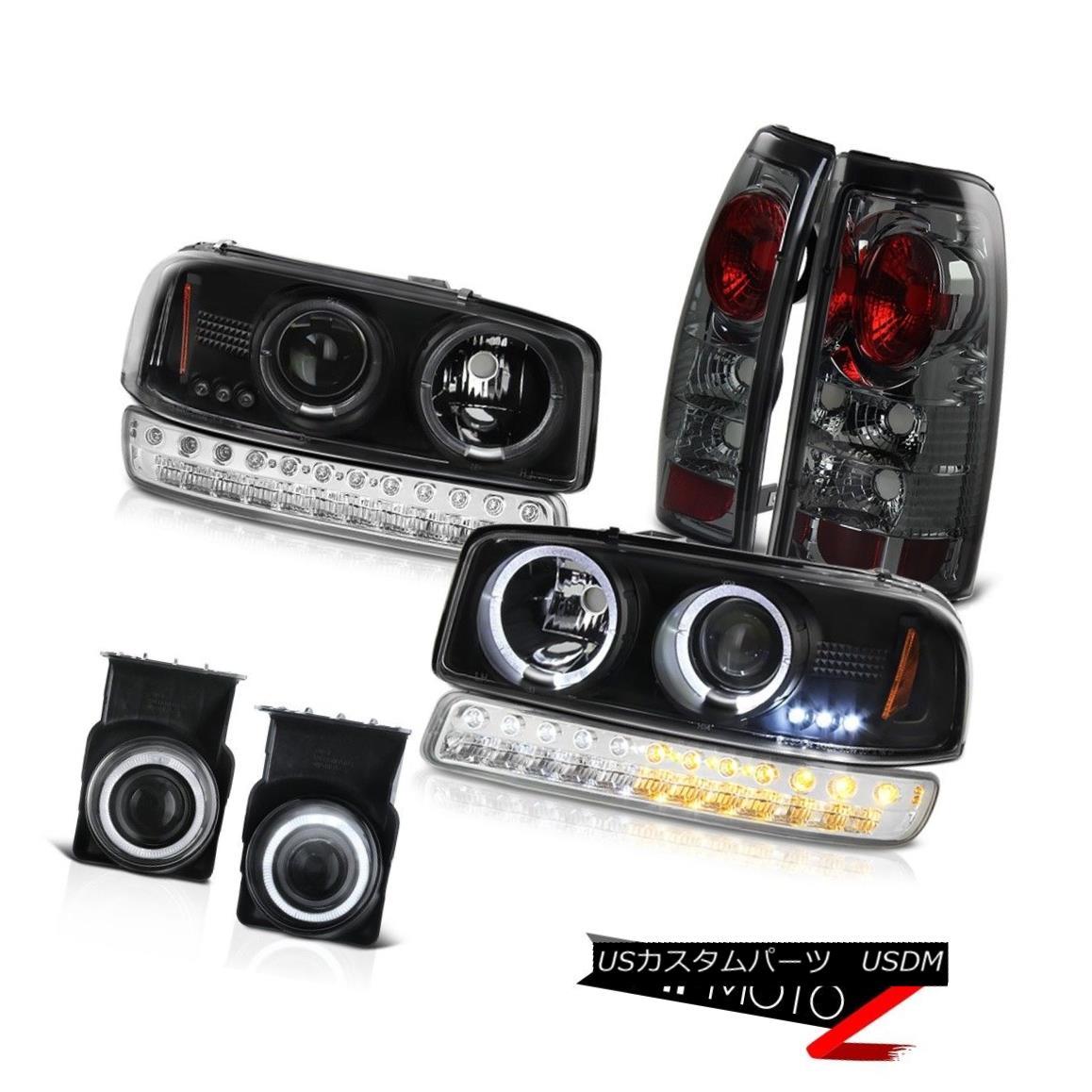 テールライト 03-06 Sierra GMT800 Foglights Titanium Smoke Tail Lamps Signal Lamp Headlights 03-06 Sierra GMT800フォグライトチタン煙テールランプシグナルランプヘッドライト