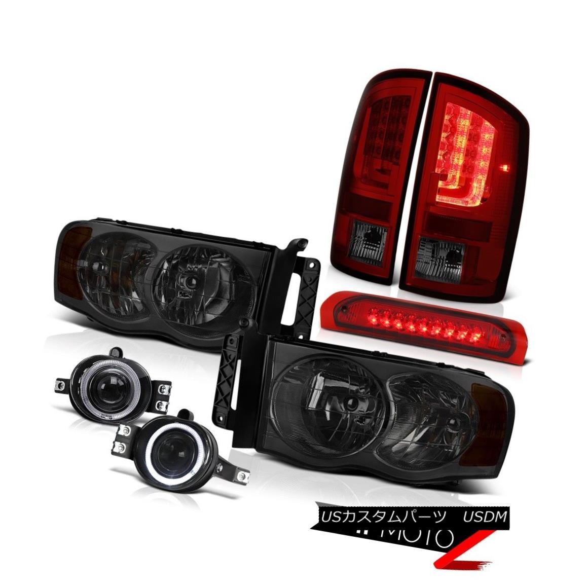テールライト 02-05 Ram 1500 2500 1500 3.7L Taillamps Headlights Foglights Third Brake Light 02-05ラム1500 2500 1500 3.7Lトライアングルヘッドライトフォグライト第3ブレーキライト