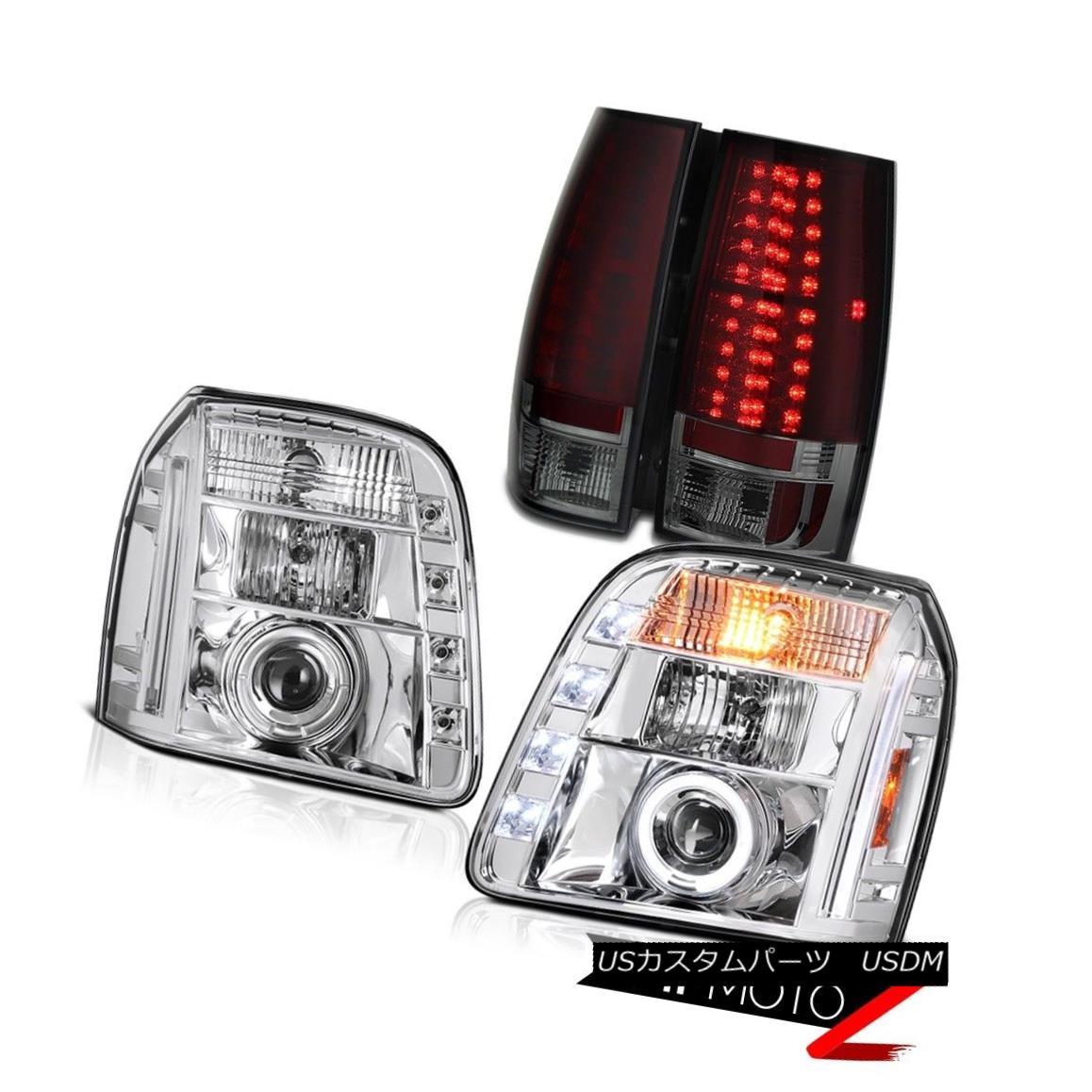 テールライト 2007-2014 GMC Yukon SLT Tail Lamps Euro Clear Headlights Dual Halo
