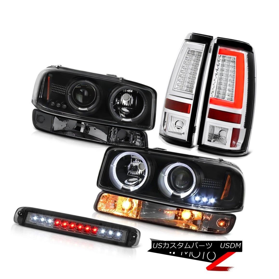 テールライト 99-06 Sierra 6.0L Chrome Tail Brake Lamps 3RD Light Bumper Headlights Tron Style 99-06 Sierra 6.0Lクロームテールブレーキランプ3RDライトバンパーヘッドライトトロンスタイル