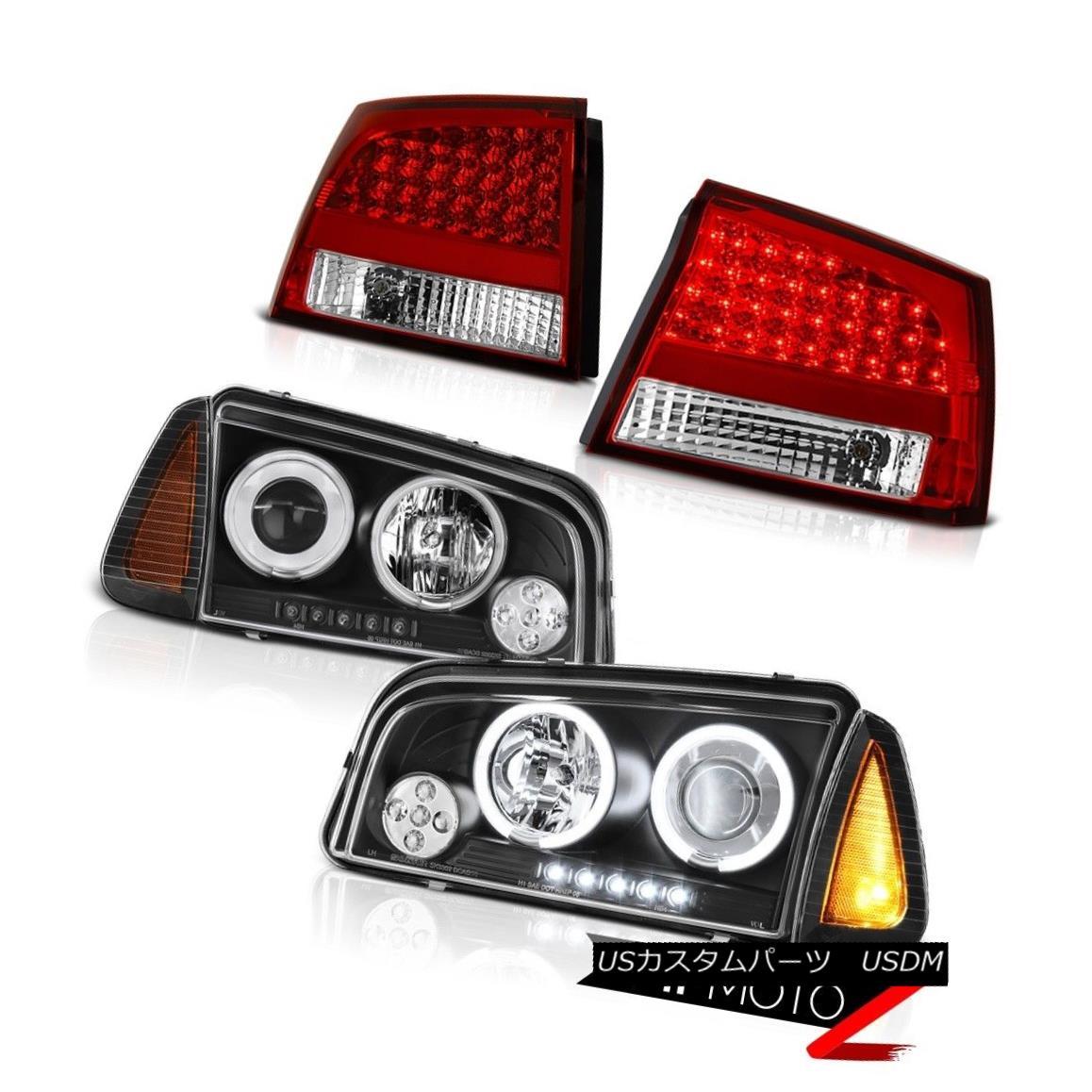 テールライト 09-10 Dodge Charger DUB Red clear taillamps parking lamp projector headlights 09-10ダッジチャージャーDUBレッドクリアテールランプパーキングランププロジェクターヘッドライト