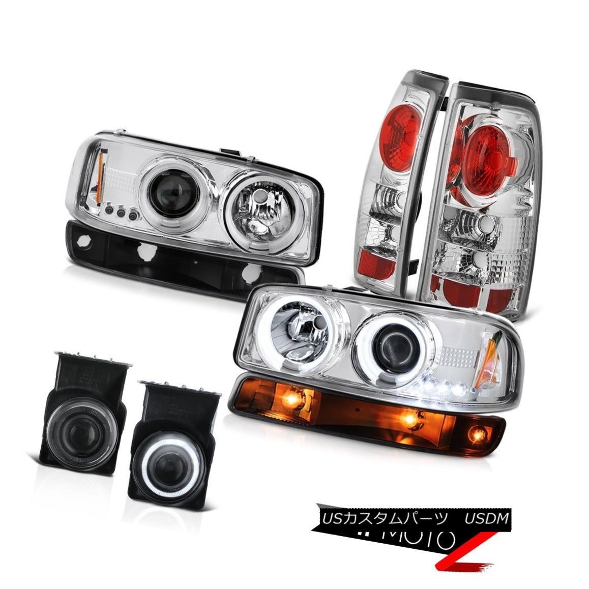 テールライト 03-06 Sierra 5.3L Foglights euro chrome taillights bumper lamp ccfl headlamps 03-06 Sierra 5.3L Foglightsユーロクロームテールライトバンパーランプccflヘッドライト