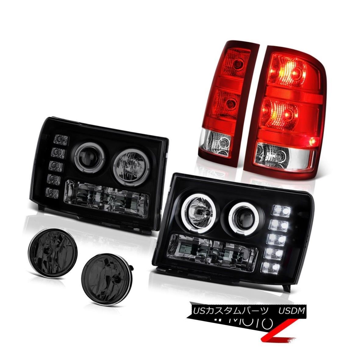 テールライト 2008-2014 Sierra 3500 Denali Smokey Fog Lamps Taillights Headlights Replacement 2008年?2014年シエラ3500デナリスモーキーフォグランプ灯台ヘッドライト交換