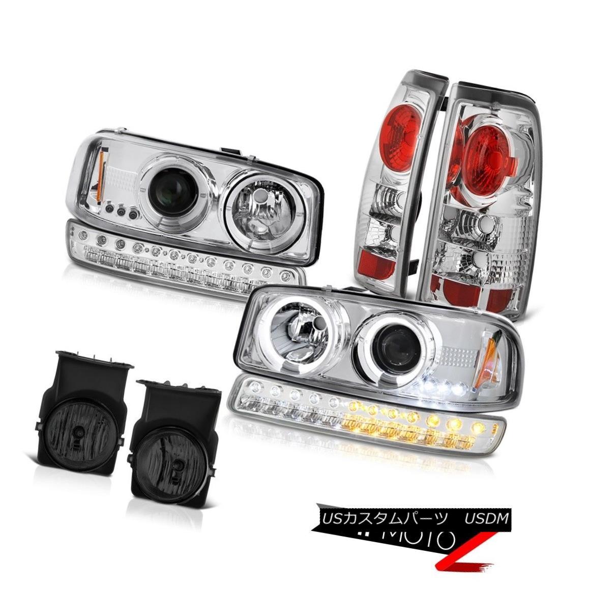 テールライト 03-06 Sierra 2500HD Titanium Smoke Fog Lights Tail Brake Bumper Light Headlamps 03-06 Sierra 2500HDチタンスモークフォグライトテールブレーキバンパーライトヘッドランプ