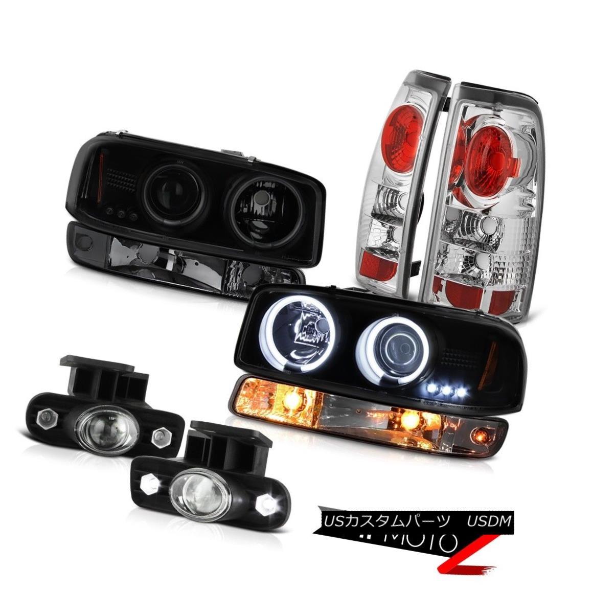 テールライト 1999-2002 Sierra 4.3L Fog lights tail parking lamp sinister black ccfl Headlamps 1999-2002シエラ4.3Lフォグライトテールパーキングランプシニスターブラックccflヘッドランプ