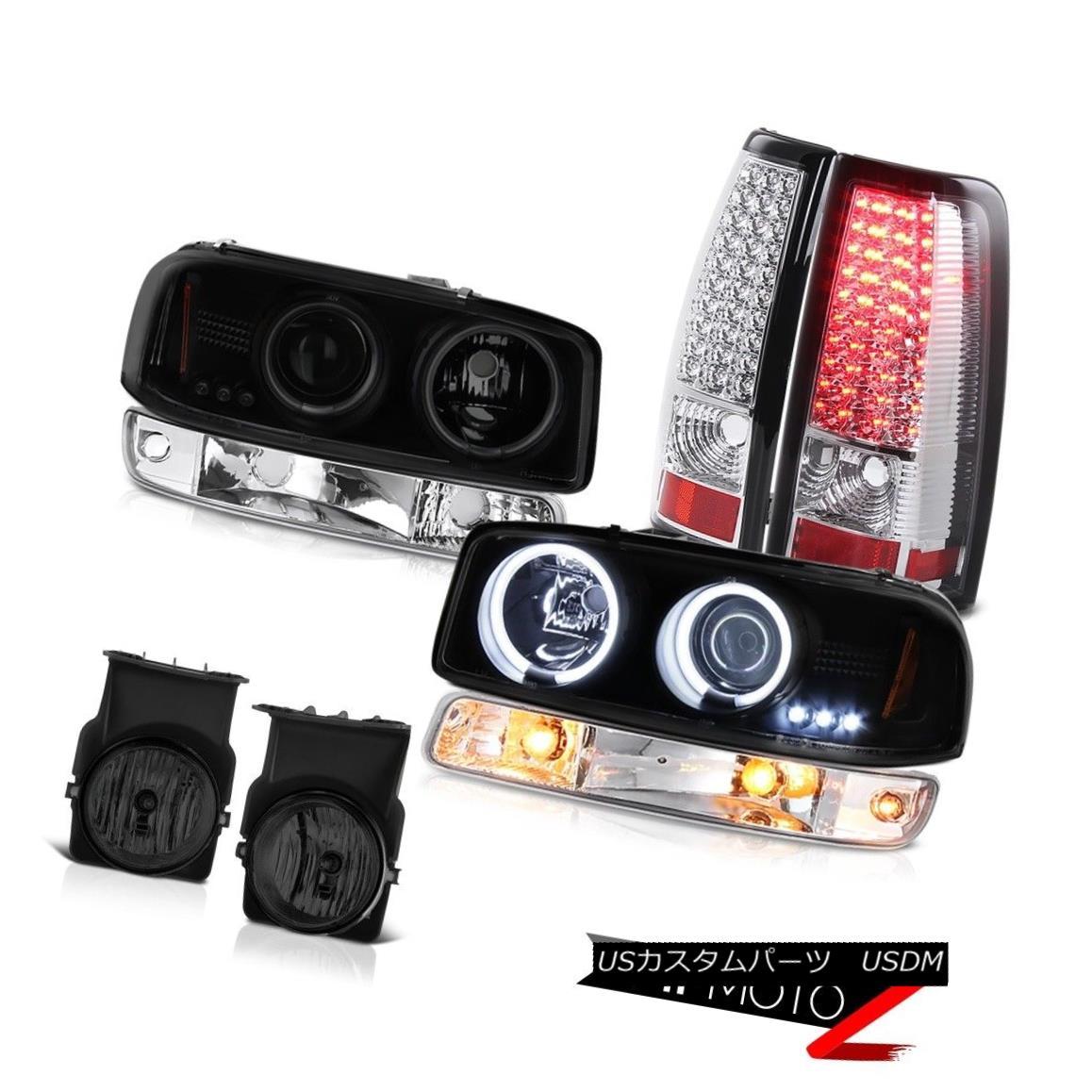 テールライト 03-06 Sierra 2500HD Foglights tail brake lights turn signal headlamps Halo Ring 03-06 Sierra 2500HD Foglightsテールブレーキライト信号ヘッドランプHalo Ring
