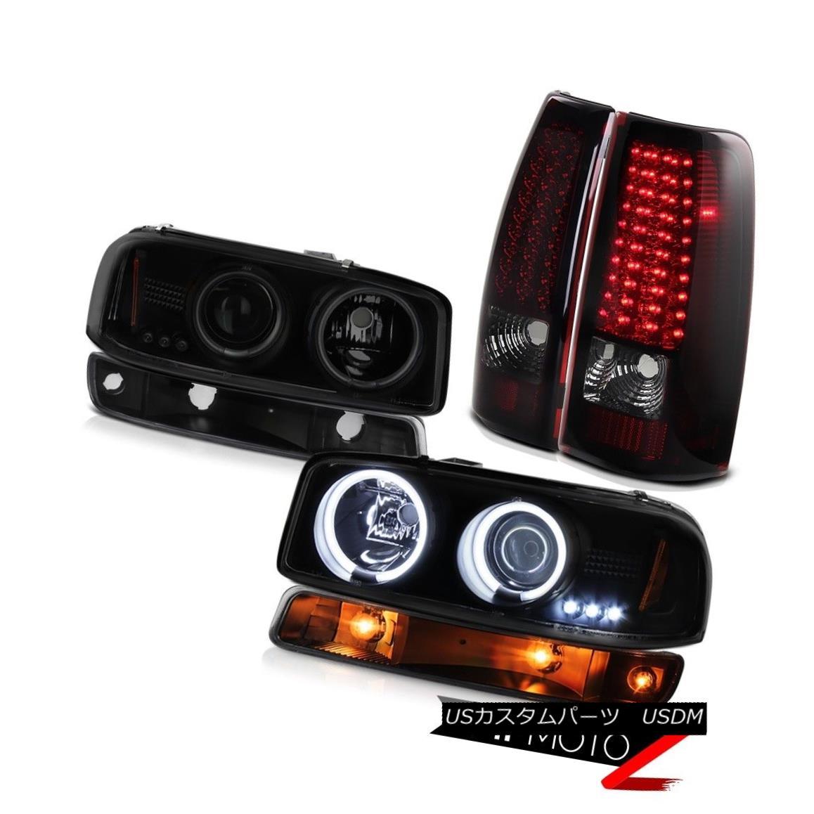 テールライト 1999-2002 Sierra 2500 LED parking brake lights light dark tinted ccfl Headlamps 1999-2002 Sierra 2500 LEDパーキングブレーキライトライトダークティンテッドccflヘッドランプ