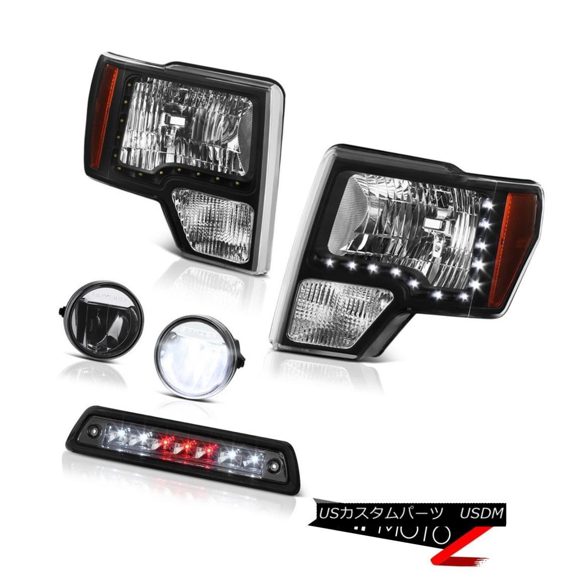 テールライト 09-14 F150 6.2L Third brake lamp fog lamps nighthawk black headlamps led drl SMD 09-14 F150 6.2L第3ブレーキランプフォグランプナイトホークブラックヘッドランプled drl SMD