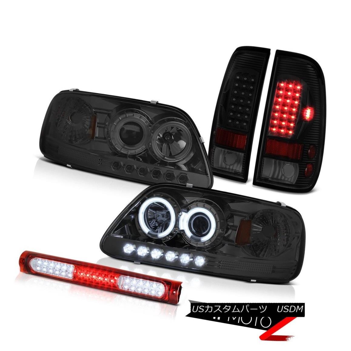 テールライト 97-03 F150 Xlt Wine Red Third Brake Light Rear Lamps Phantom Smoke Headlamps 97-03 F150 Xltワインレッド第3ブレーキライトリアランプファントムスモークヘッドランプ