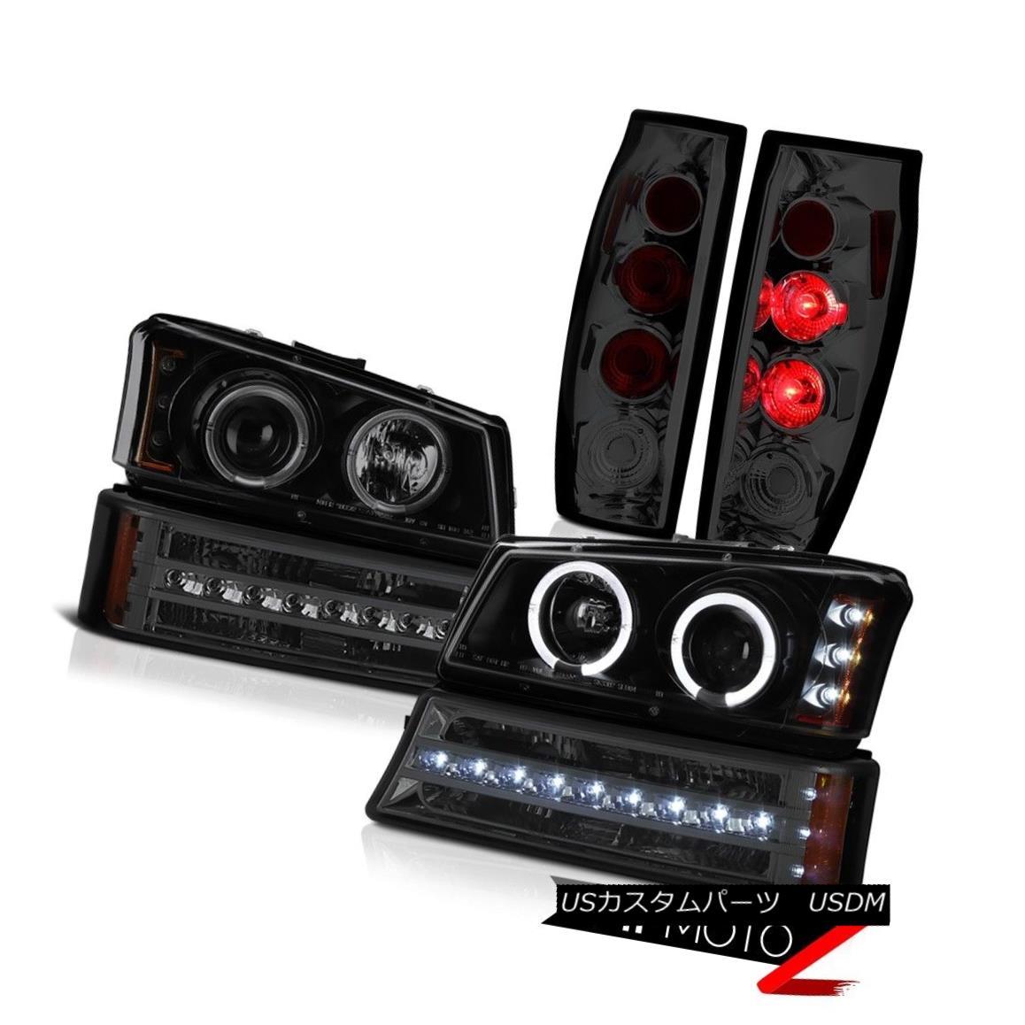 テールライト 03-06 Chevy Avalanche Rear Brake Lamps Signal Lamp Dark Tinted Headlights Euro 03-06 Chevy Avalancheリアブレーキランプ信号ランプダークテントヘッドライトユーロ