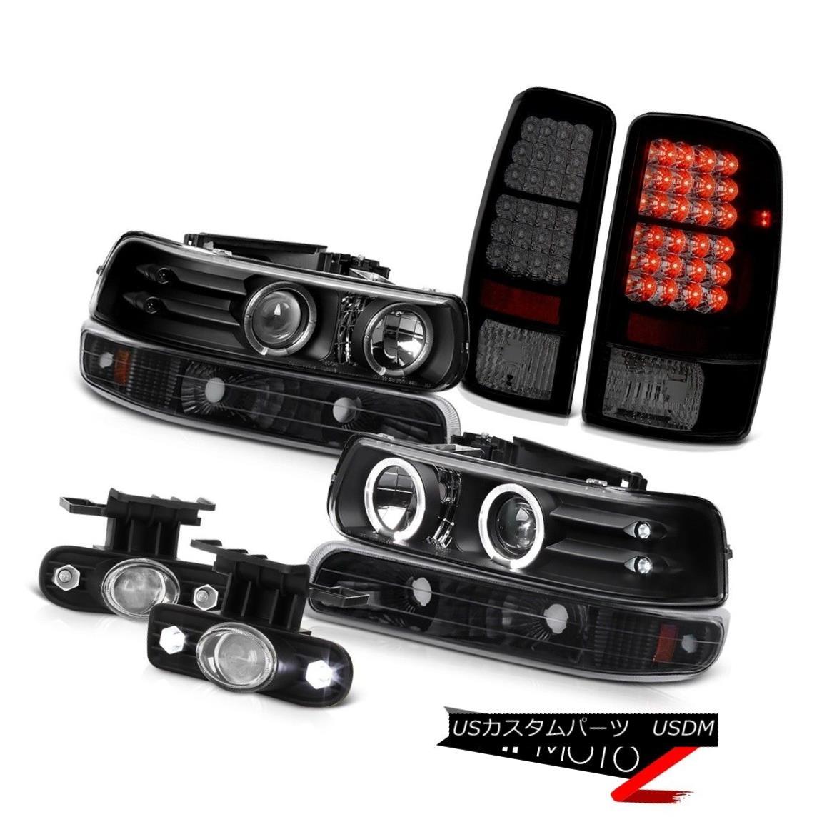 テールライト 00-06 Tahoe 5.3L Black Halo Headlight Sinister Tail Lights Projector Driving Fog 00-06 Tahoe 5.3Lブラックヘイローヘッドライト不快テールライトプロジェクタードライビングフォグ