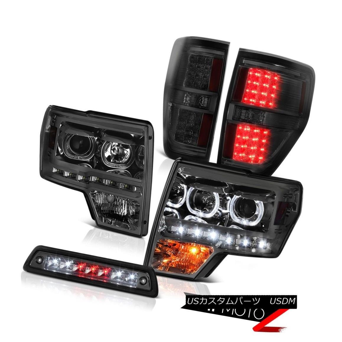 テールライト 09-14 F150 STX Smoked third brake lamp parking lights Headlights SMD Angel Eyes 09-14 F150 STXスモークサードブレーキランプパーキングライトヘッドライトSMD Angel Eyes