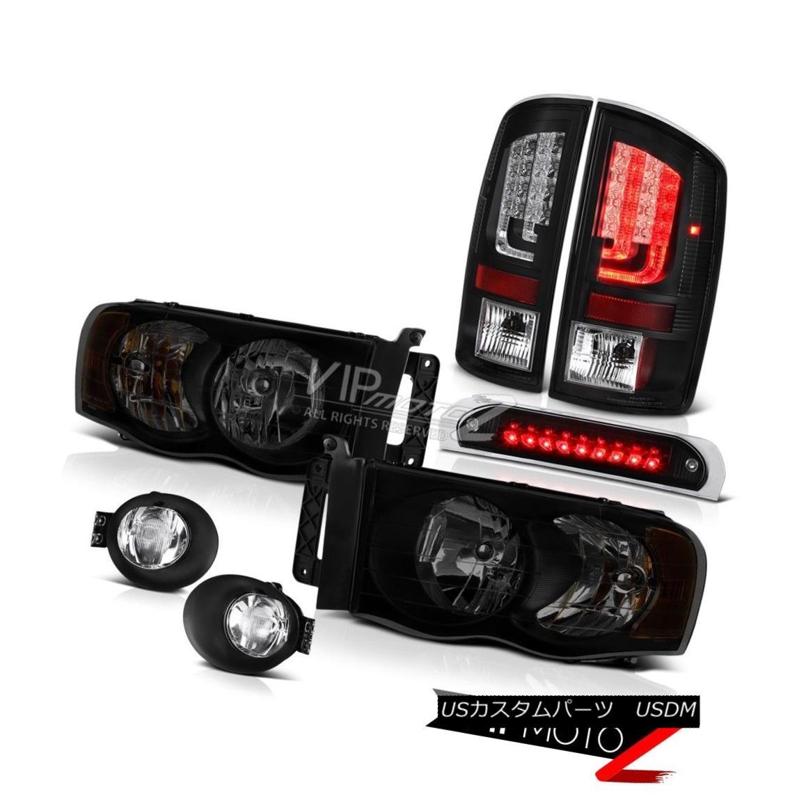 テールライト 02-05 Dodge Ram 2500 3500 5.7L Taillamps Fog Lamps 3RD Brake Light Headlights 02-05 Dodge Ram 2500 3500 5.7Lタイルランプフォグランプ3RDブレーキライトヘッドライト