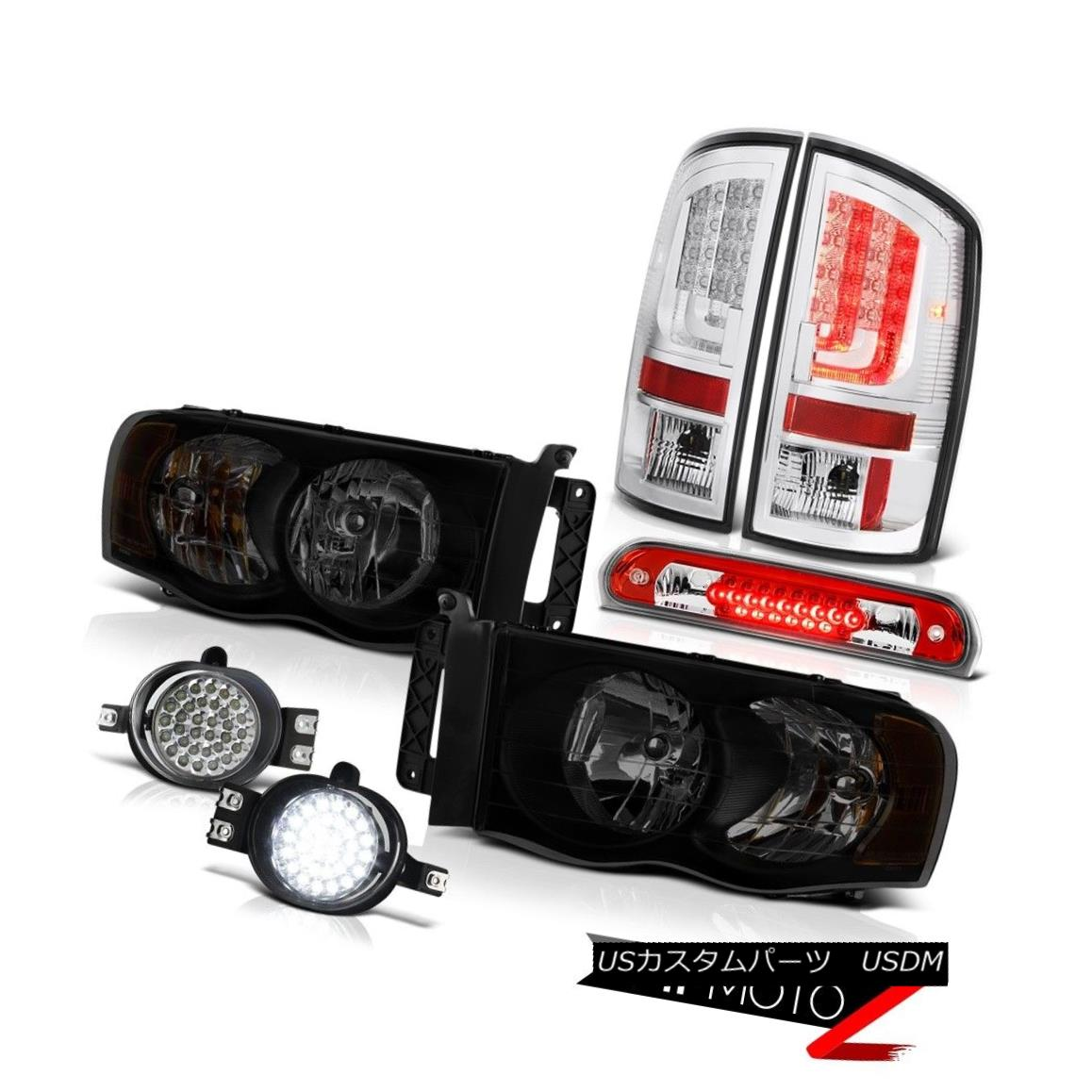 テールライト 02-05 Dodge Ram 1500 2500 SLT Tail Lights Headlights Foglights High STop Lamp 02-05 Dodge Ram 1500 2500 SLTテールライトヘッドライトフォグライトハイSTOPランプ