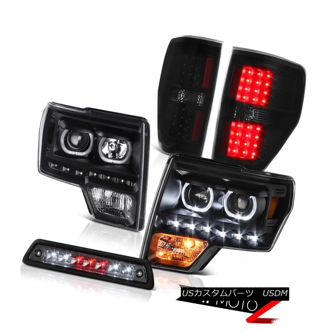 テールライト 09-14 F150 3.5L Roof cab light darkest smoke taillamps headlamps LED Angel Eyes 09-14 F150 3.5Lルーフキャブライト暗い煙テールランプヘッドランプLEDエンジェルアイズ