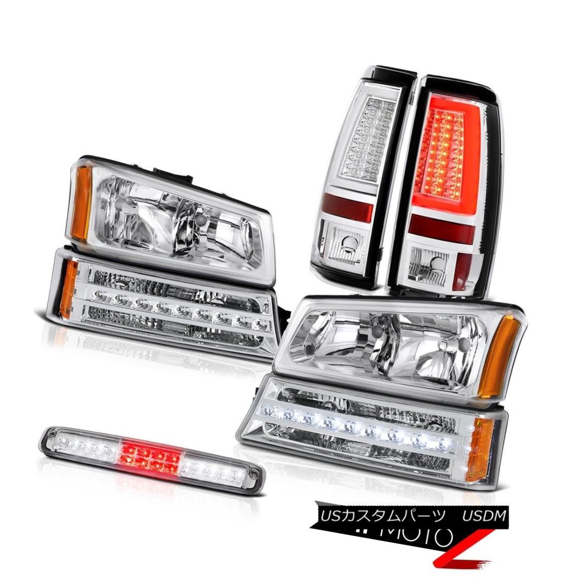 テールライト 03 04 05 06 Silverado 3500Hd Chrome Tail Lights Roof Cab Lamp Headlamps Bumper 03 04 05 06 Silverado 3500Hdクロームテールライトルーフキャブランプヘッドランプバンパー
