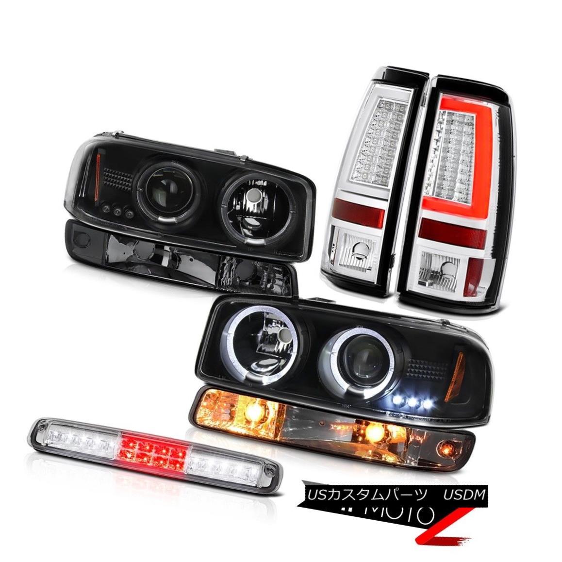 テールライト 99-06 Sierra 1500 Tail Lights Roof Brake Lamp Parking Light Projector Headlights 99-06 Sierra 1500テールライトルーフブレーキランプパーキングライトプロジェクターヘッドライト