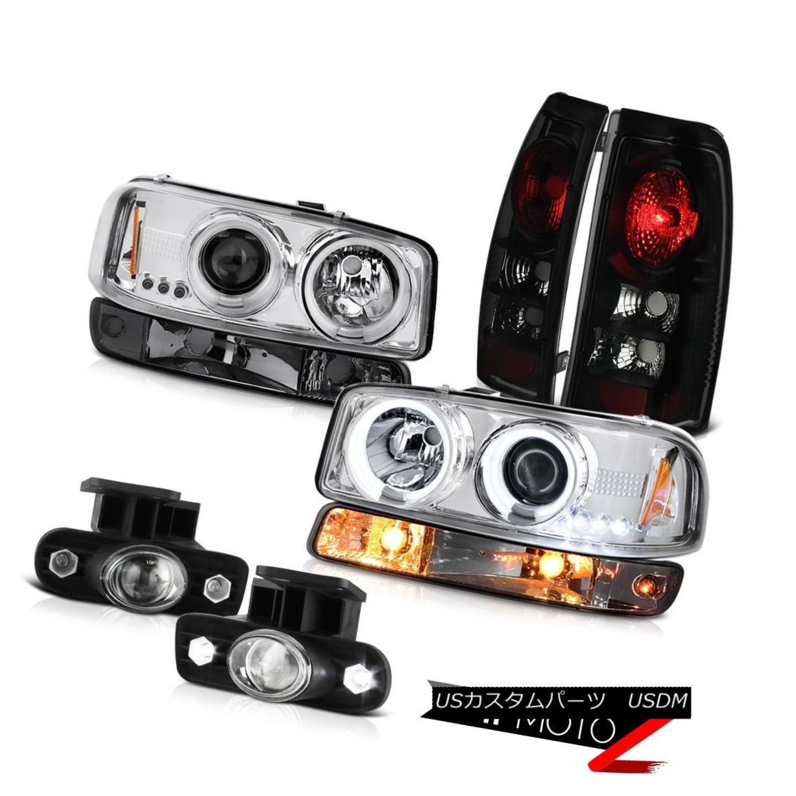 テールライト 99-02 GMC Sierra Fog lamps sinister black tail brake turn signal ccfl Headlamps 99-02 GMCシエラフォグランプ不快なブラックテールブレーキターンシグナルccflヘッドランプ