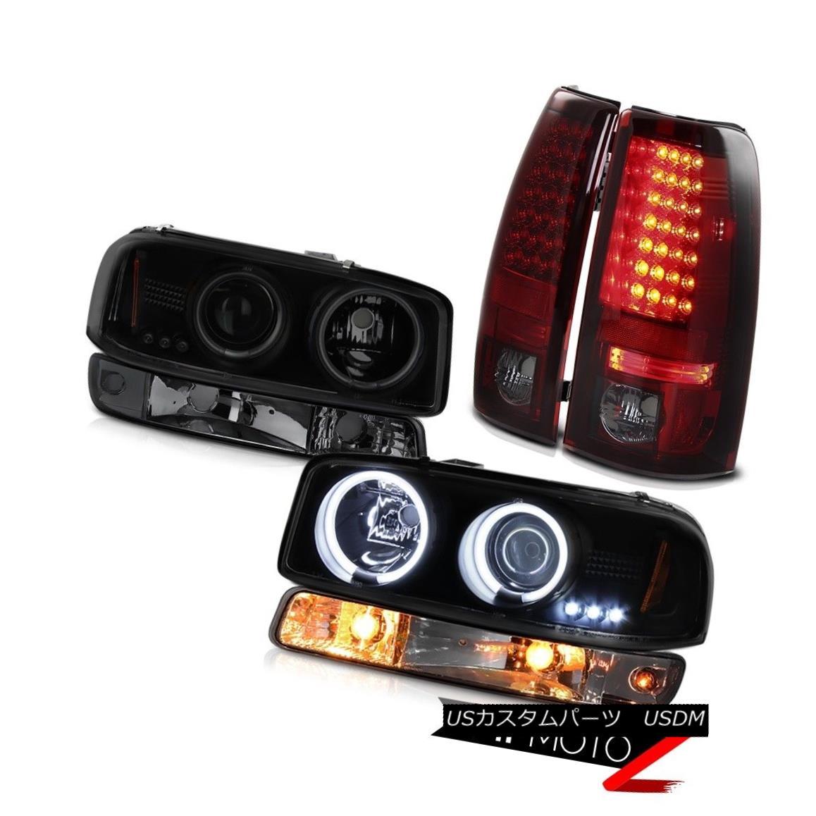 テールライト 99-02 Sierra 1500 Red smoke smd parking brake lights dark lamp CCFL Headlamps 99-02シエラ1500赤煙smdパーキングブレーキライトダークランプCCFLヘッドランプ
