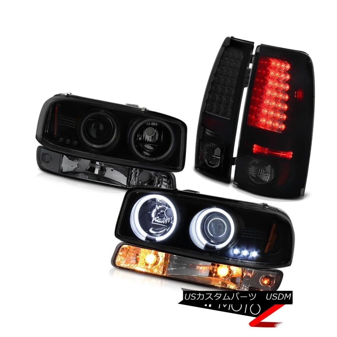 テールライト 99-02 Sierra SLT Dark tinted rear smd brake lights signal light ccfl headlamps 99-02 Sierra SLT暗い色の後部smdブレーキ灯信号灯ccflヘッドライト