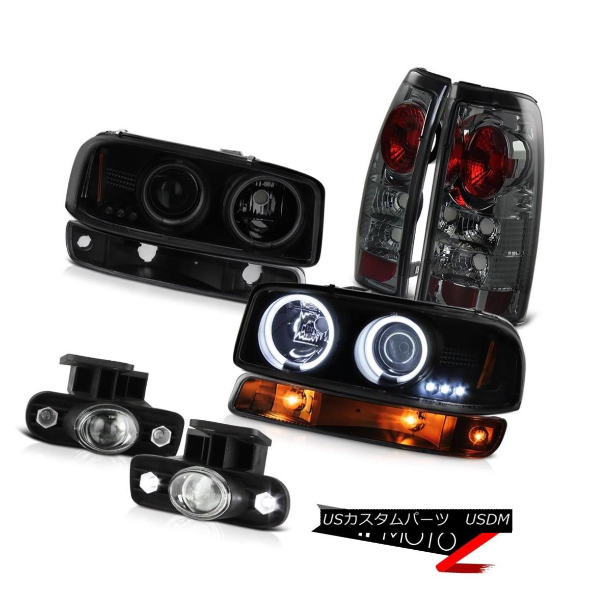 テールライト 99-02 Sierra WT Clear chrome fog lights tail brake parking light ccfl Headlights 99-02シエラWTクリアクロムフォグライトテールブレーキパーキングライトccflヘッドライト