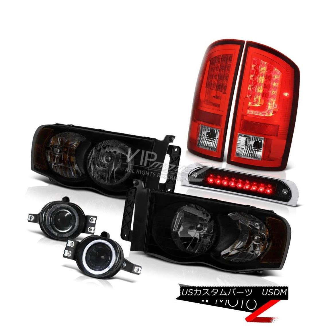 テールライト 02-05 Dodge Ram 2500 3500 WS Tail Lamps Roof Brake Light Headlamps Foglights LED 02-05 Dodge Ram 2500 3500 WSテールランプルーフブレーキライトヘッドランプフォグライトLED