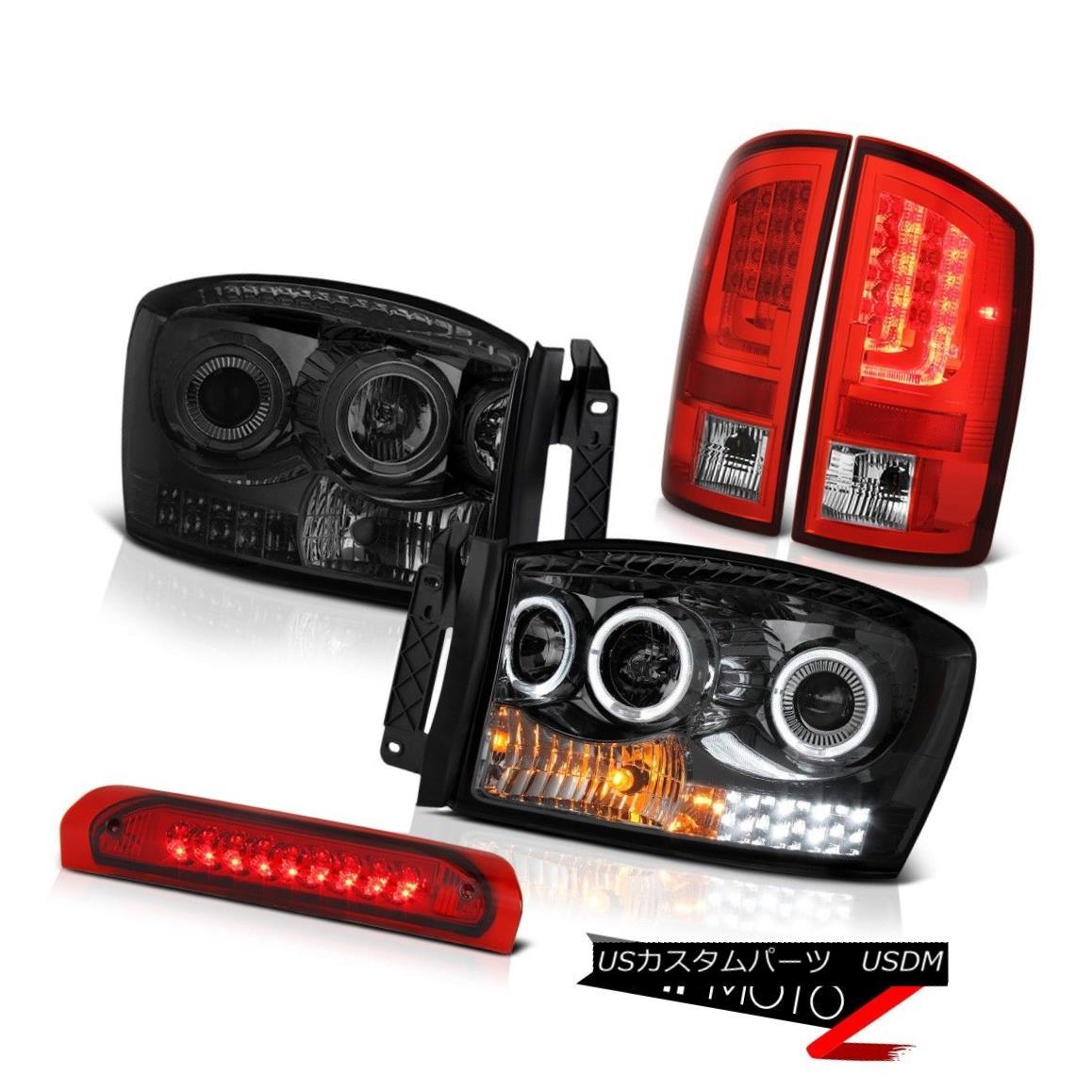 テールライト 2006 Ram 5.7L Rear Brake Lamps Phantom Smoke Headlamps Third Light Neon Tube LED 2006 Ram 5.7Lリアブレーキランプファントムスモークヘッドランプ第3ライトネオンチューブLED