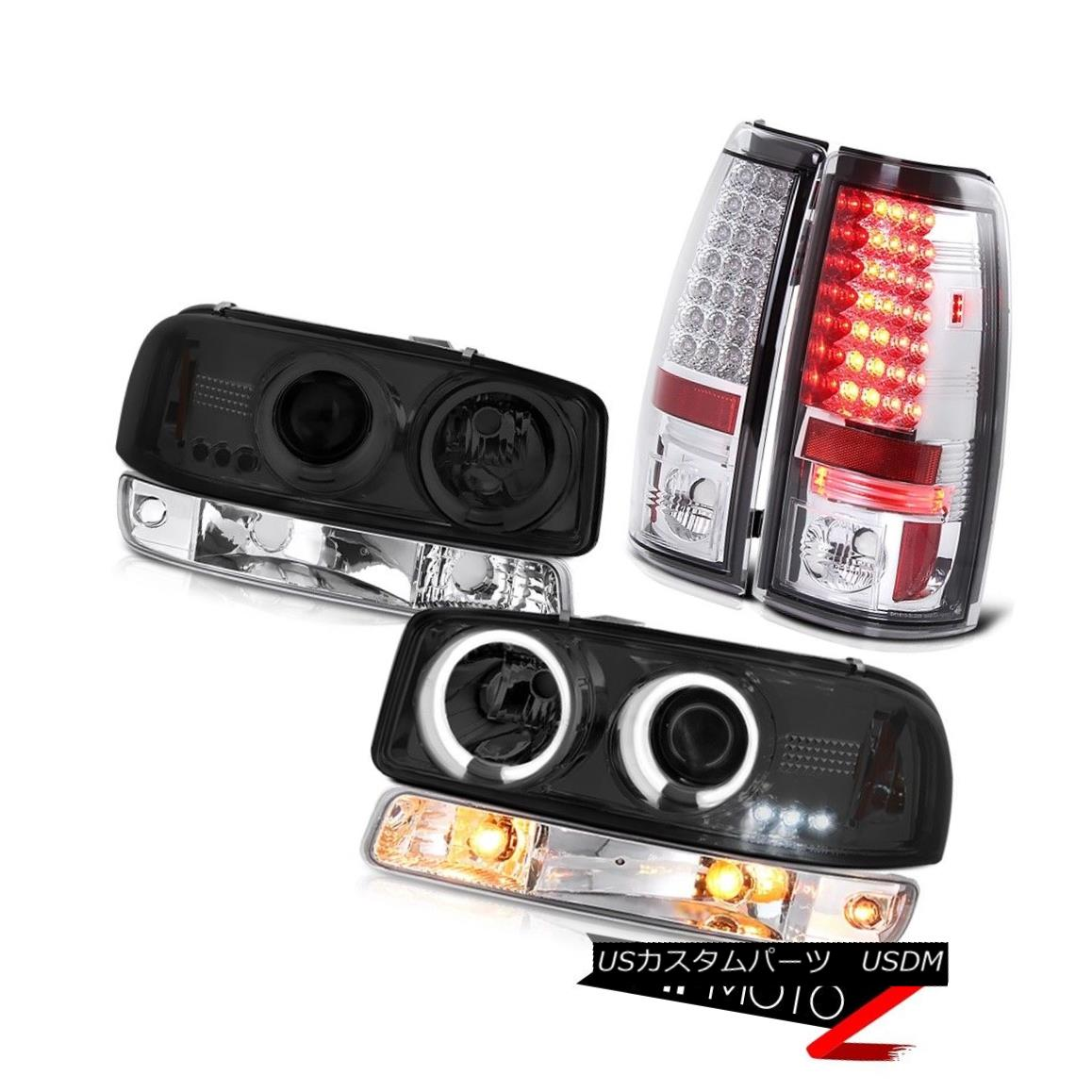 テールライト 1999-2006 Sierra SL Taillights bumper light graphite smoke ccfl headlights LED 1999-2006 Sierra SL灯台バンパーライトグラファイト煙ccflヘッドライトLED