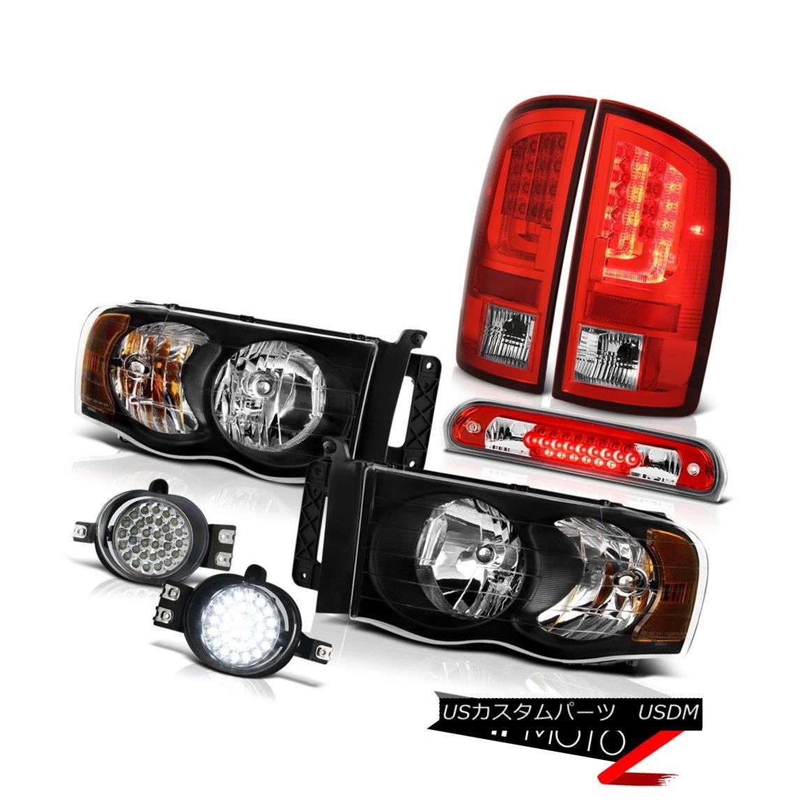 テールライト 2002-2005 Dodge Ram 1500 WS Red Tail Lamps Headlights Fog High STop Light SMD 2002-2005ダッジラム1500 WSレッドテールランプヘッドライトフォグハイSTOPライトSMD