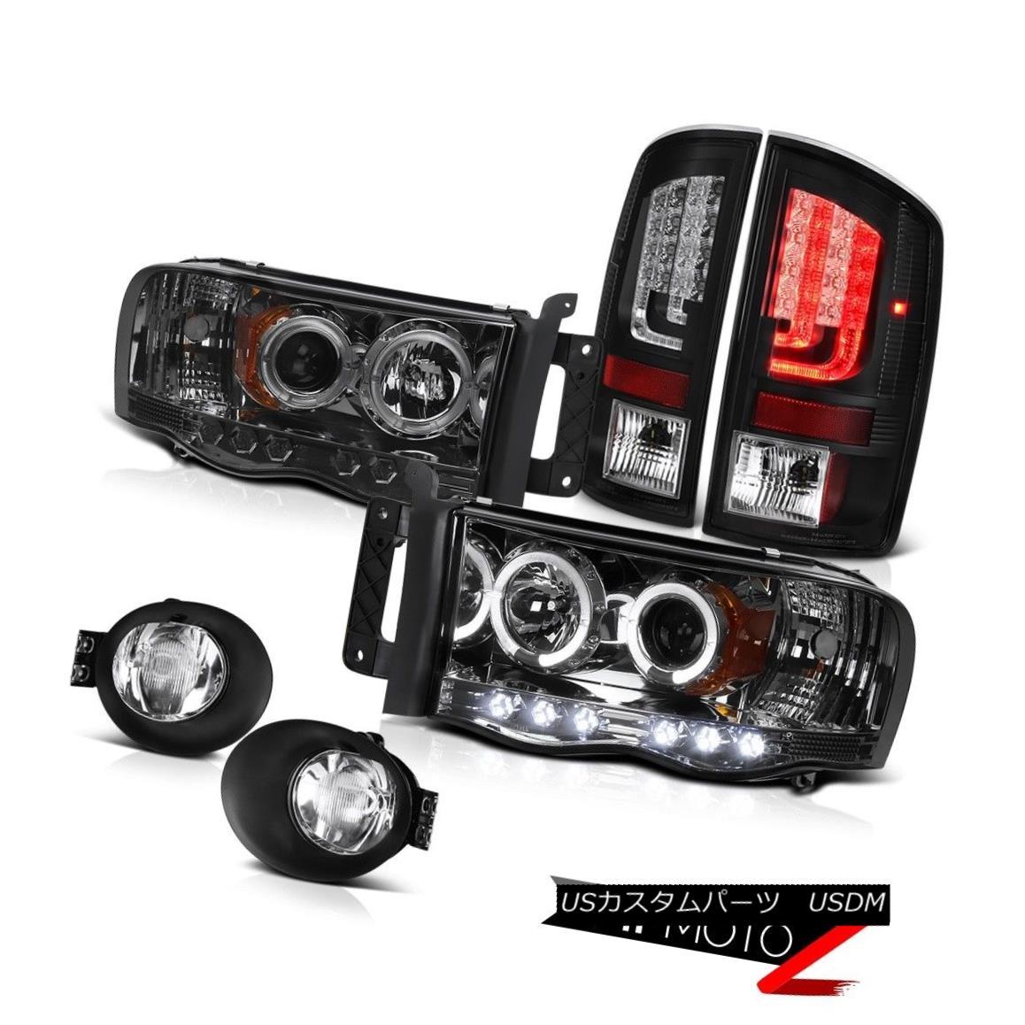 テールライト 02-05 Dodge Ram 1500 2500 ST Black Tail Lamps Foglights Projector Headlights LED 02-05 Dodge Ram 1500 2500 STブラックテールランプFoglightsプロジェクターヘッドライトLED