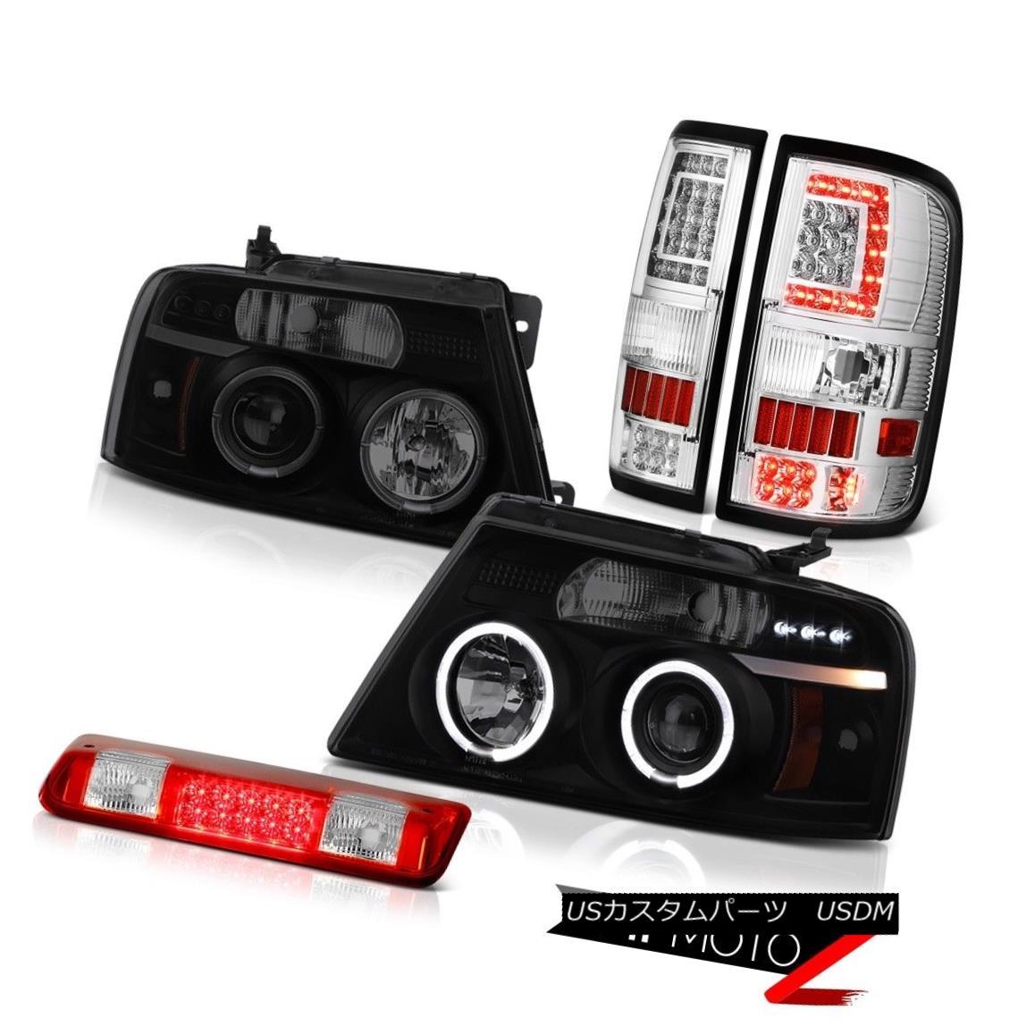 テールライト 04 05-08 Ford F150 Tail Lamps Rosso Red Led 3Rd Brake Custom Head Pair L+R LH+RH 04 05-08フォードF150テールランプロッソレッド3RdブレーキカスタムヘッドペアL + R LH + RH