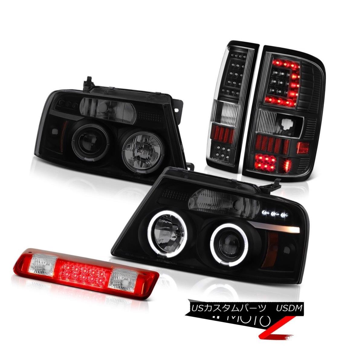 テールライト 04-07 08 Ford F150 Led Bar Tail Lamps Rosso Red 3Rd Brake Head Replacement L+R 04-07 08フォードF150 LEDテールランプロッソレッド3Rdブレーキヘッド交換L + R