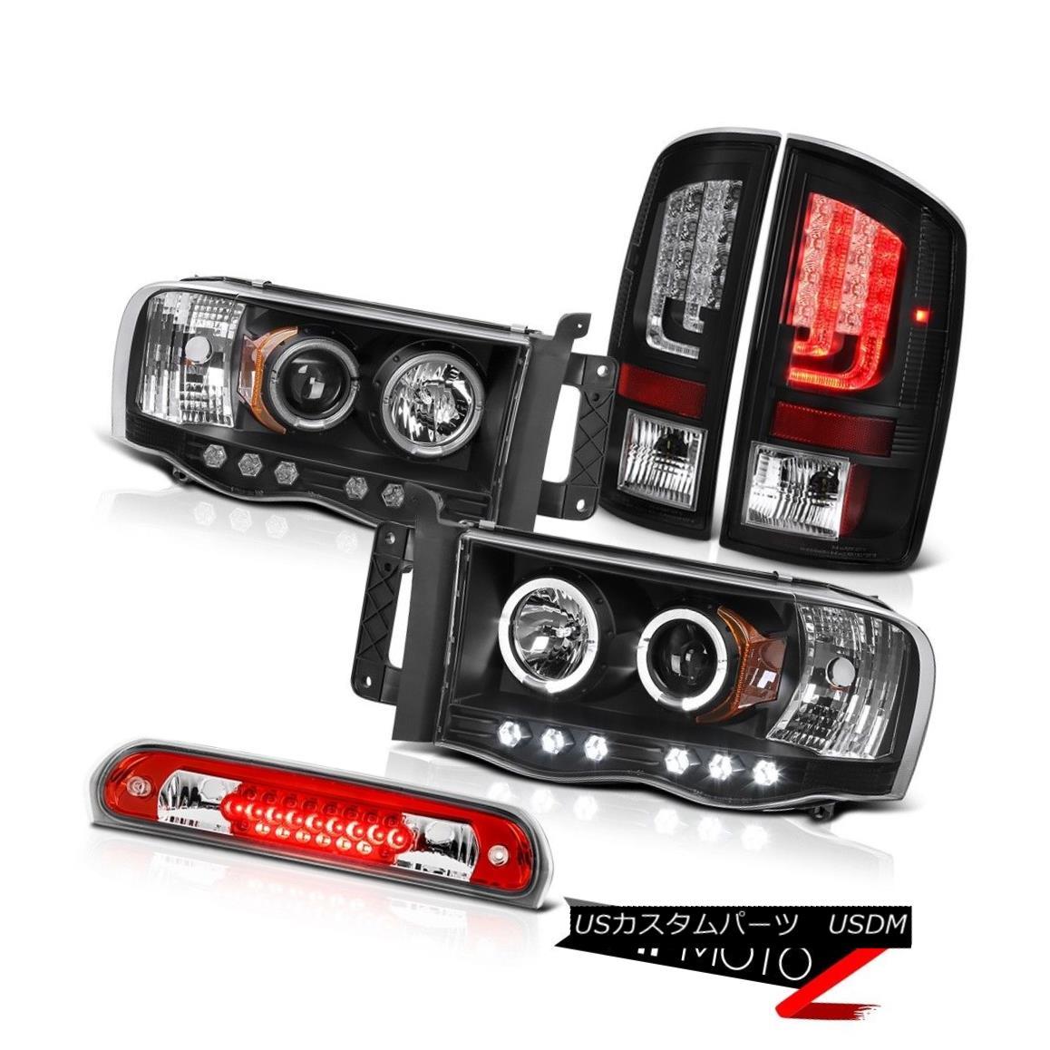 テールライト 02-05 Ram 1500 2500 3500 5.9L Rear Brake Lights Headlights Roof Light Dual Halo 02-05 Ram 1500 2500 3500 5.9Lリアブレーキライトヘッドライトルーフライトデュアルヘイロー