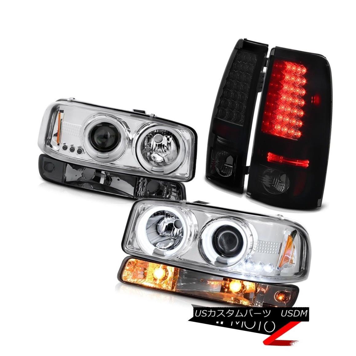 テールライト 99 00 01 02 Sierra SL LED tail brake lights smokey signal lamp ccfl headlights 99 00 01 02 Sierra SL LEDテールブレーキライトスモーシグナルランプccflヘッドライト