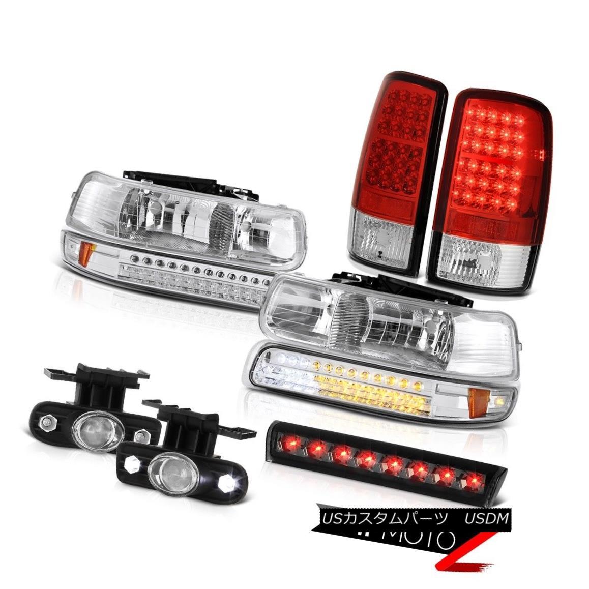 テールライト 00-06 Chevy Tahoe Z71 Smokey 3rd brake lamp fog lights wine red tail Headlights 00-06シボレータホZ71スモーキー第3ブレーキランプフォグライトワインレッドテールヘッドライト