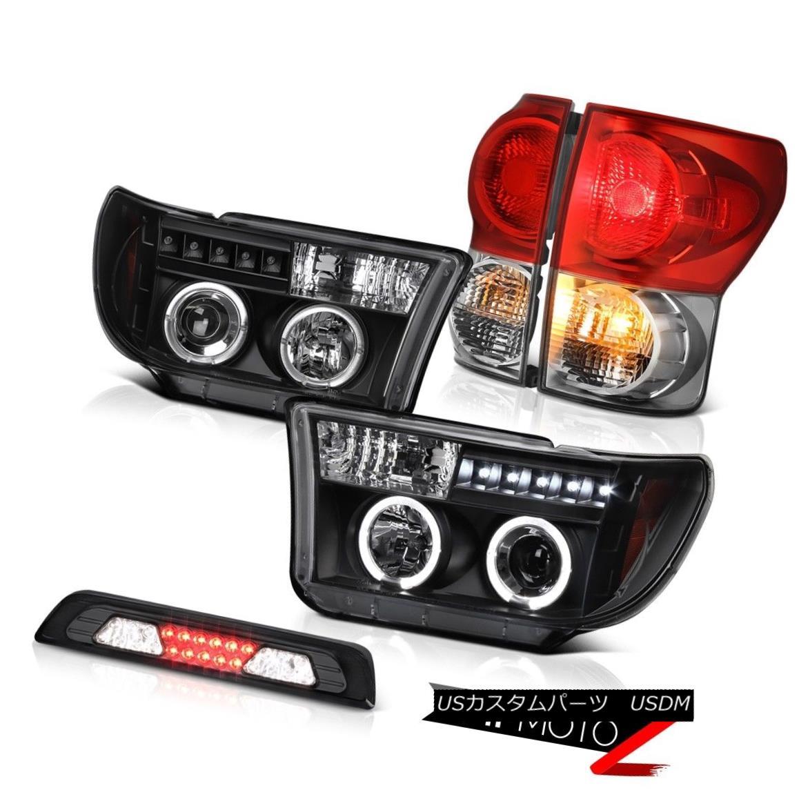 テールライト 07-13 Toyota Tundra Platinum Roof Cab Light Taillights Raven Black Headlights 07-13トヨタ・トンドラ・プラチナルーフキャブ・ライト・テールライトレーブ・ブラック・ヘッドライト