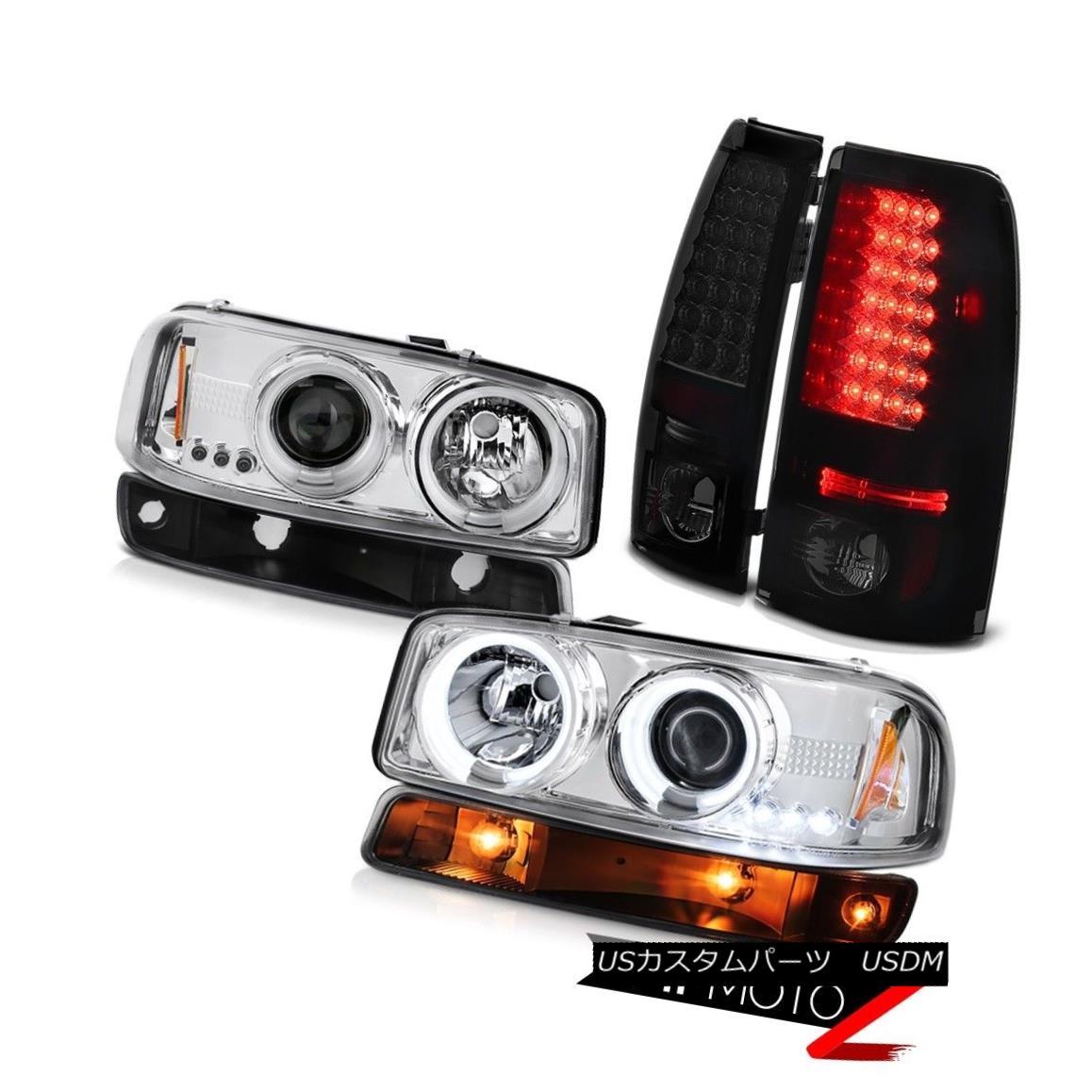 テールライト 99-02 Sierra WT Darkest smoke rear smd brake lights bumper lamp ccfl headlights 99-02シエラWT暗い煙の後ろのsmdブレーキライトバンパーランプccflヘッドライト