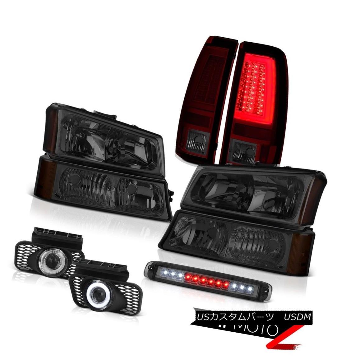テールライト 03-06 Chevy Silverado Tail Lights 3RD Brake Lamp Headlights Foglights OLED Prism 03-06 Chevy Silveradoテールライト3RDブレーキランプヘッドライトフォグライトOLEDプリズム