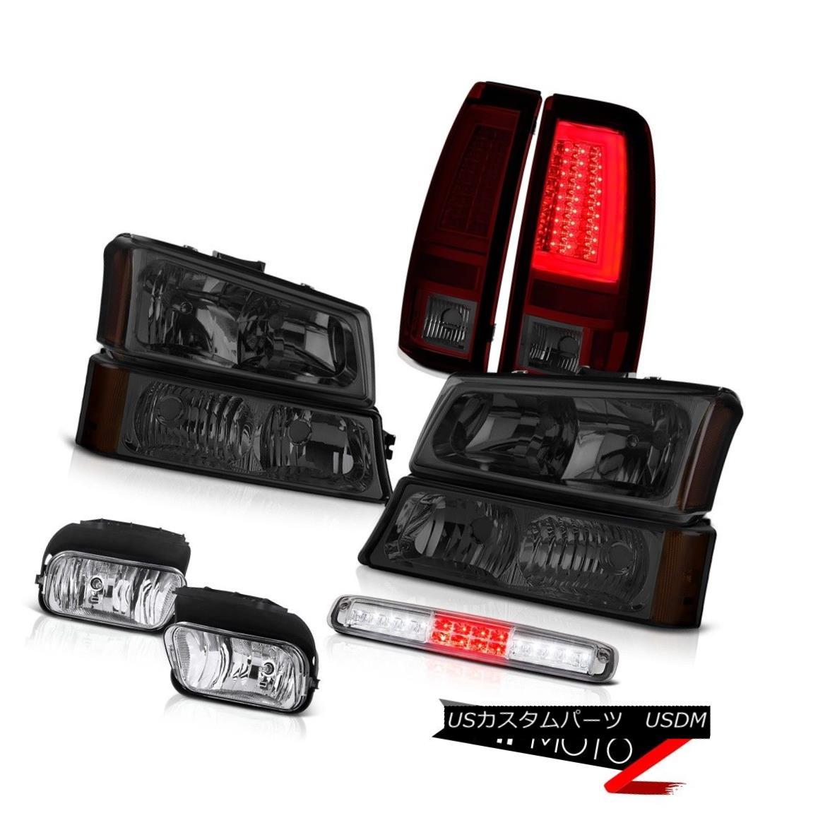 テールライト 03-06 Silverado Tail Lamps Foglamps Bumper Lamp Roof Cab Headlamps Tron Style 03-06シルバラードテールランプフォグランプバンパーランプルーフキャブヘッドランプトロンスタイル