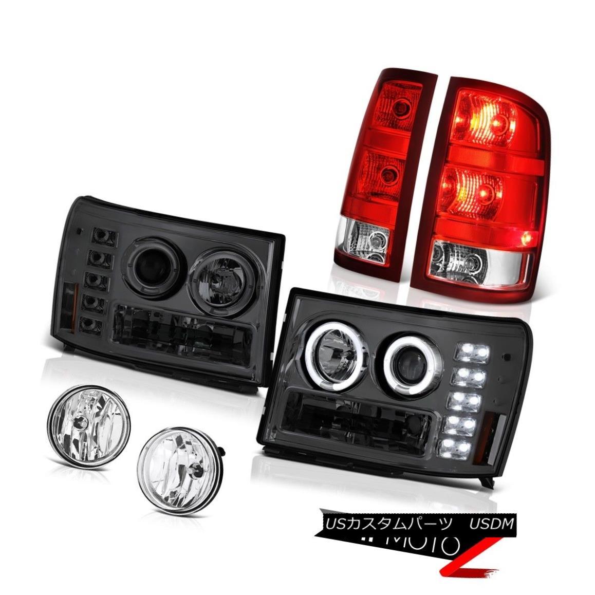 テールライト 08-14 GMC Sierra 2500 WT Crystal Clear Foglamps Taillamps Headlamps LED Assembly 08-14 GMC Sierra 2500 WTクリスタルクリアフォグランプテールランプヘッドランプLEDアセンブリ