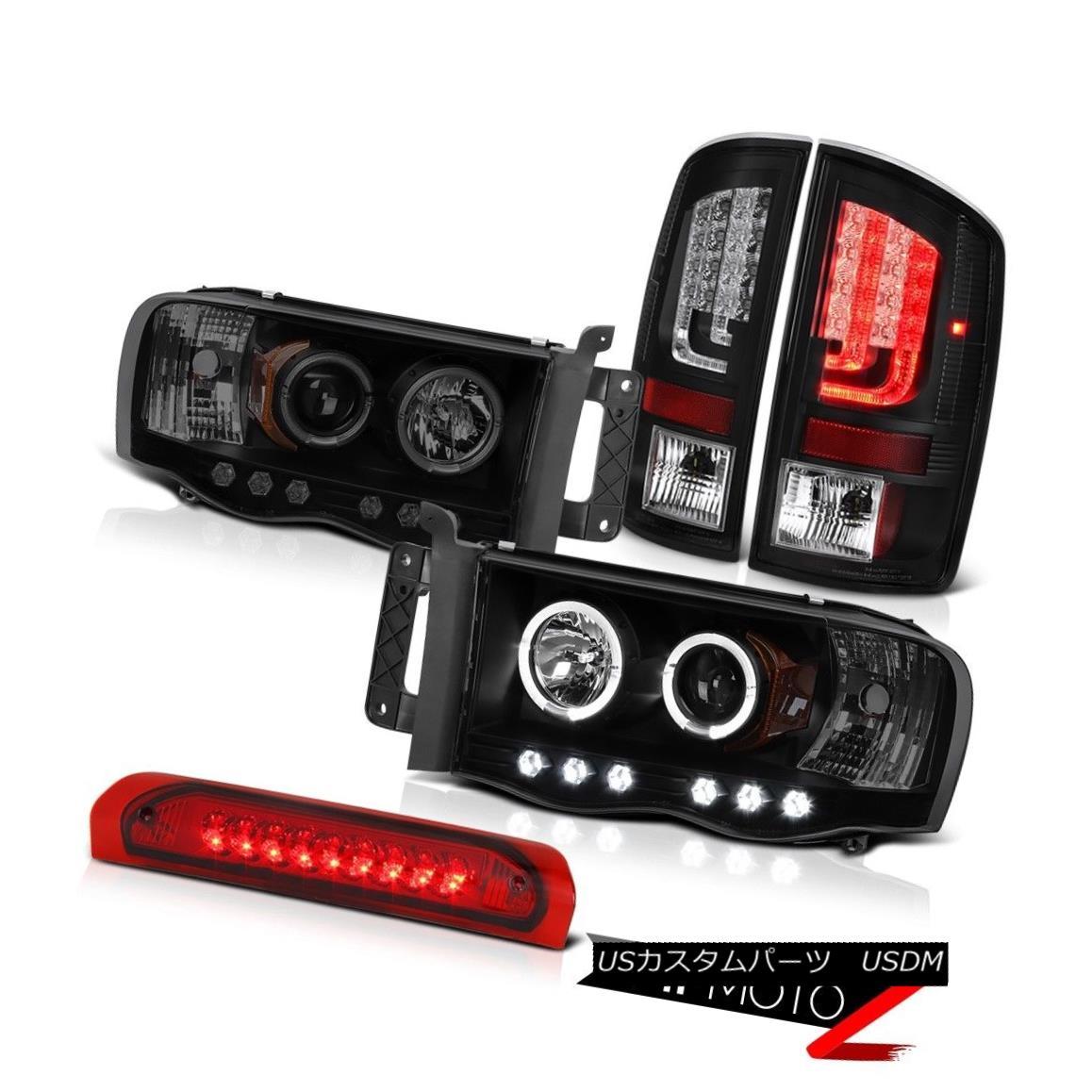 テールライト 02-05 Ram 1500 2500 3500 5.9L Tail Lights Projector Headlamps Red High STop Lamp 02-05 Ram 1500 2500 3500 5.9LテールライトプロジェクターヘッドランプレッドハイSTOPランプ