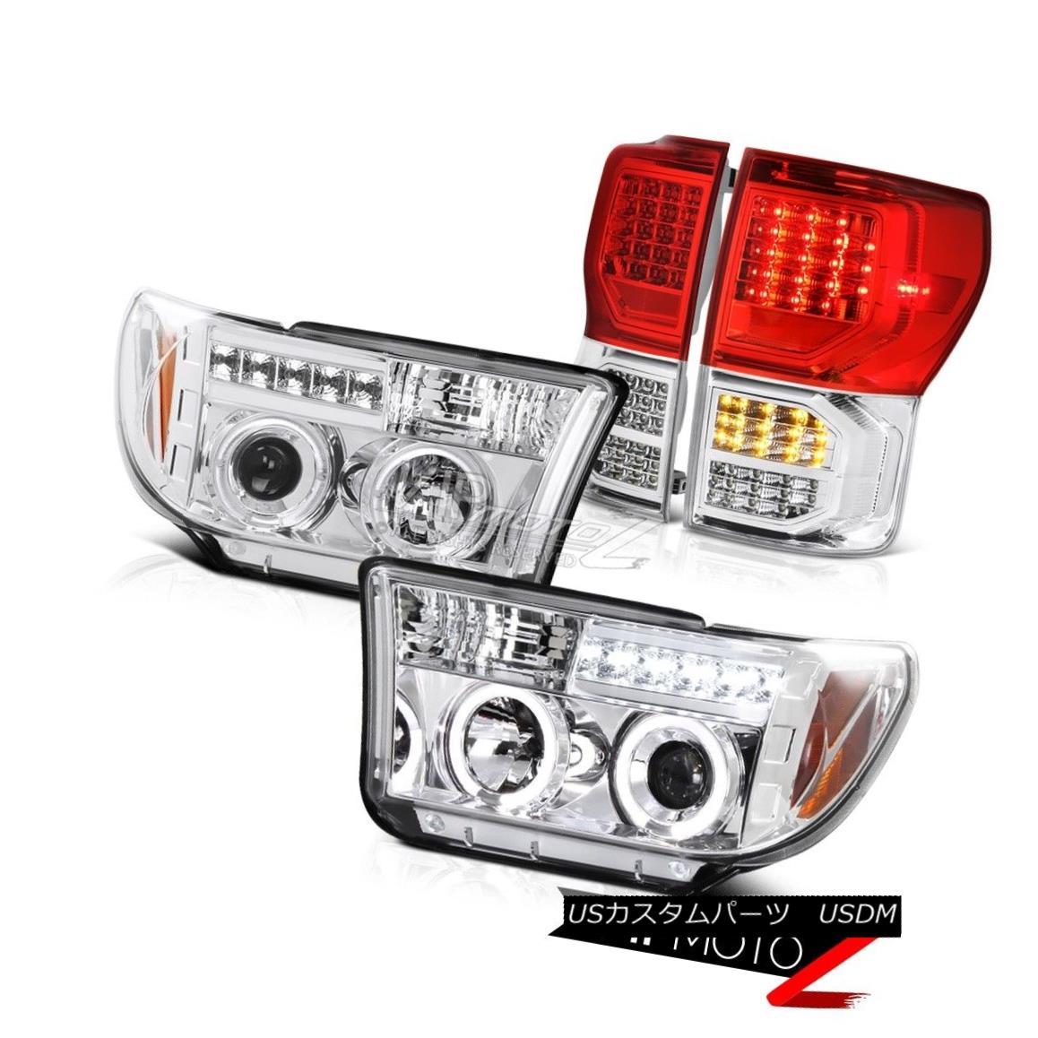 テールライト 07-13 Toyota Tundra Limited Red Tail Lamps Headlights LED LED Signal LED Tube 07-13 Toyota Tundra Limited赤テールランプヘッドライトLED LED信号LEDチューブ