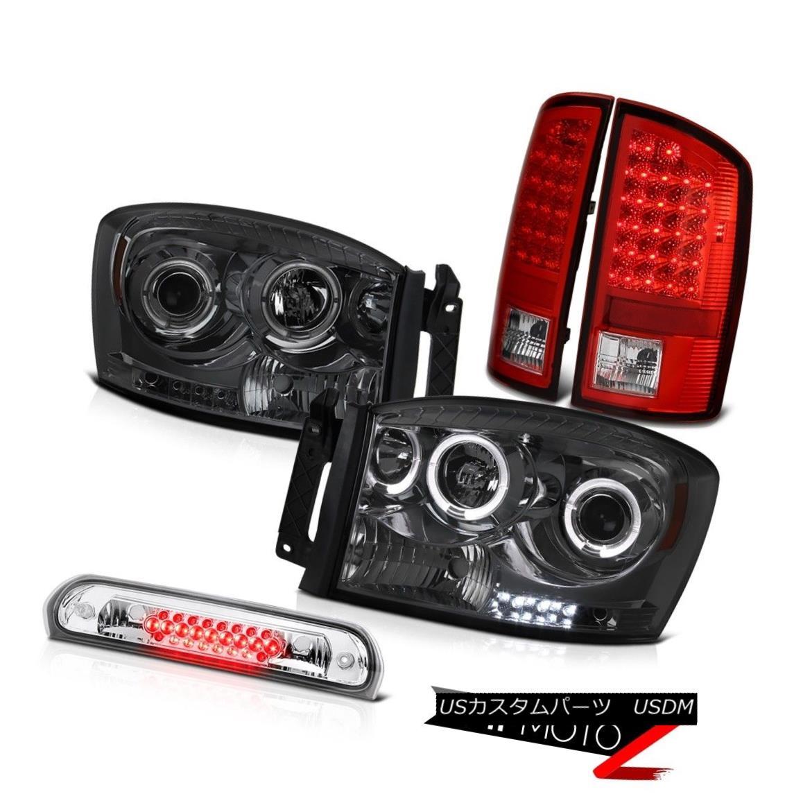 テールライト Smoke Headlight Red LED Signal Tail Light Roof Brake Cargo 2007-2008 Dodge Ram スモークヘッドライトレッドLEDシグナルテールライトルーフブレーキカーゴ2007-2008ダッジラム