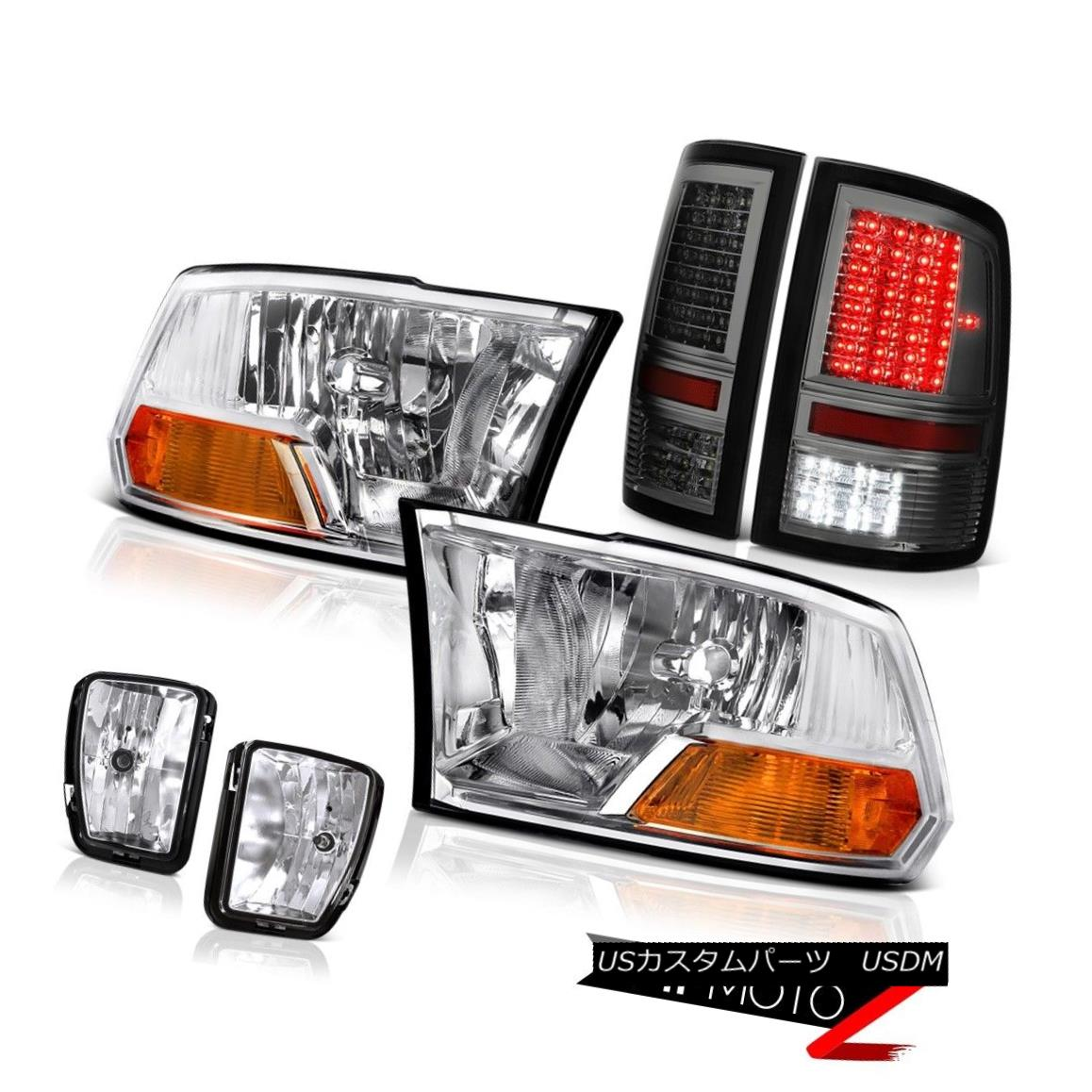 テールライト 13-18 Ram 1500 SLT Rear Brake Lights CrySTal Clear Fog Headlamps LED