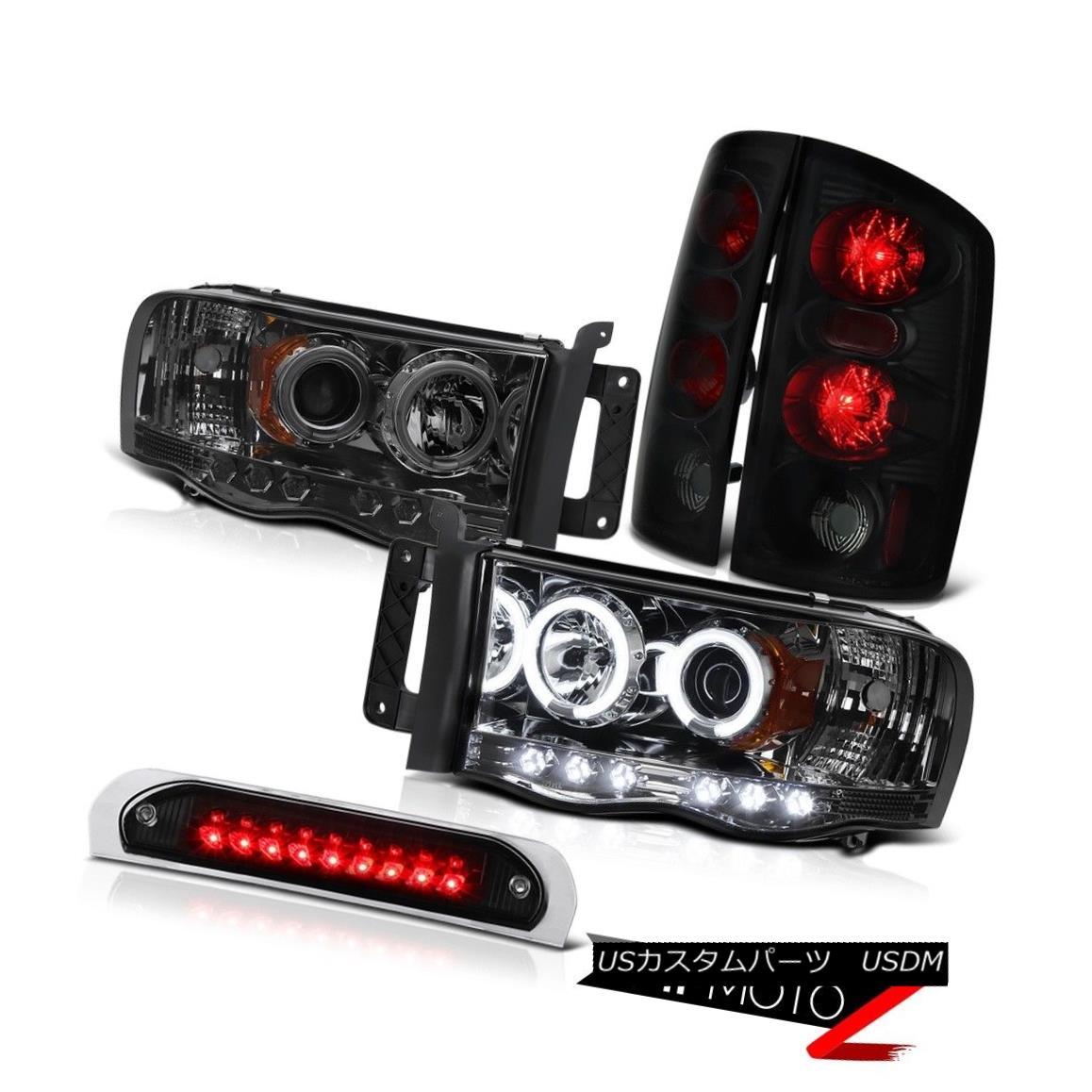 テールライト CCFL Projector Headlights Smoke+Black Tail Lights Black 3RD LED 02-04 05 Ram ST CCFLプロジェクターヘッドライトスモーク+ブラックテールライトブラック3RD LED 02-04 05ラムST