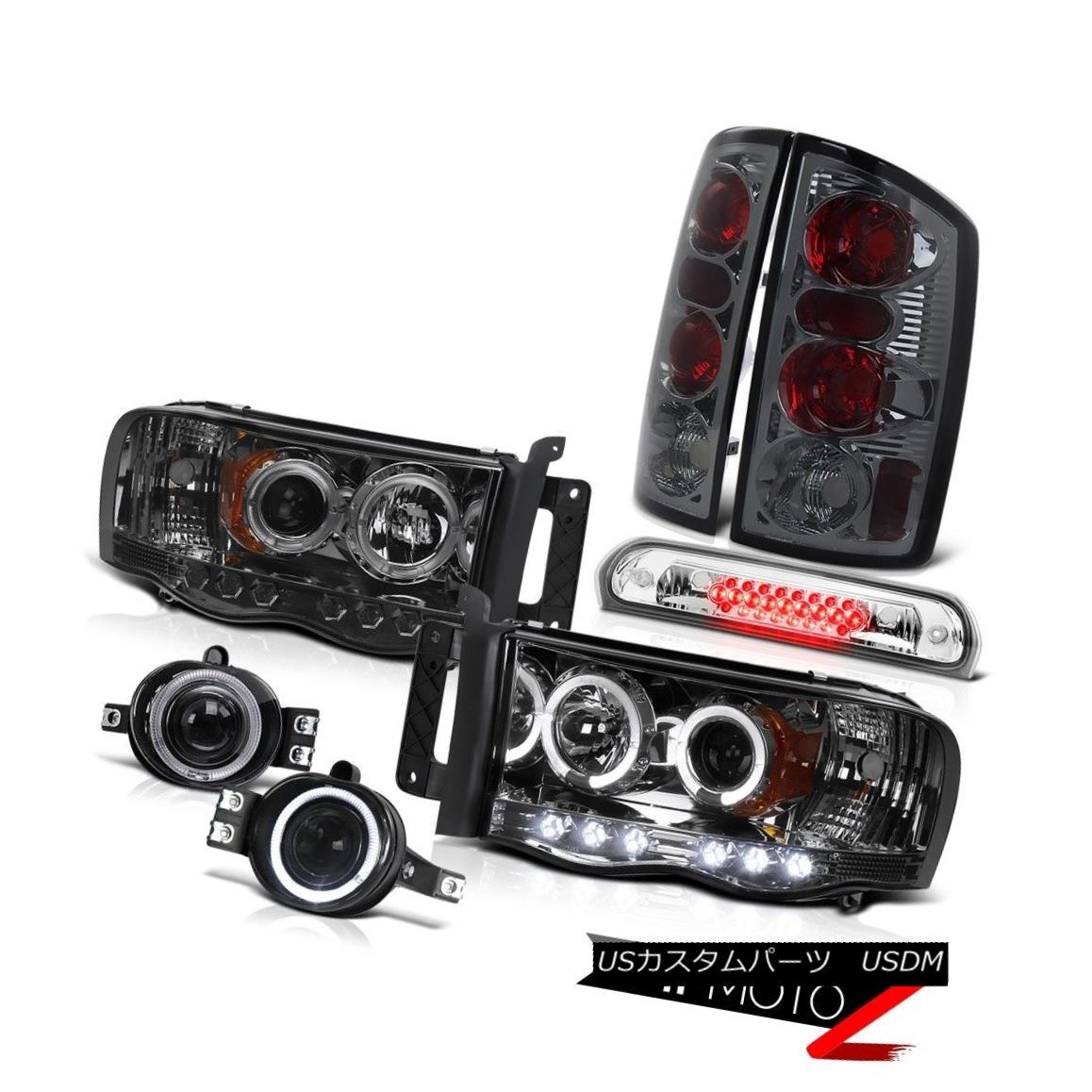 テールライト 2002-2005 Ram 3500 Smoke Halo Headlights Rear Tail Lights Projector Fog High LED 2002-2005 Ram 3500 Smoke HaloヘッドライトリアテールライトプロジェクターフォグHigh LED