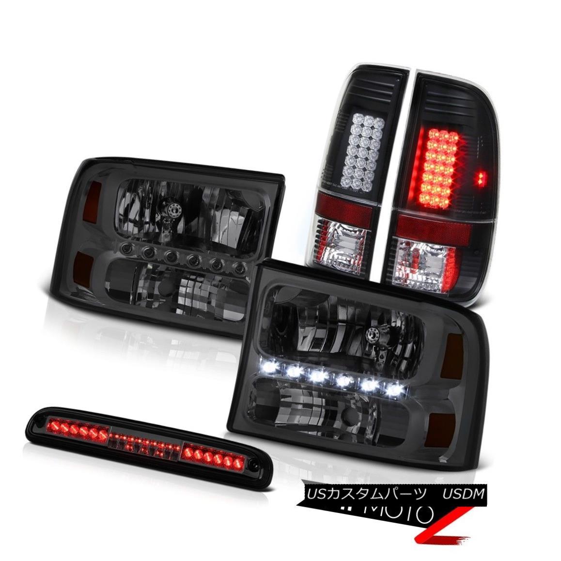 テールライト 99 00 01 02 03 04 F250 XLT Smoke Headlights Tail Light Assembly LED Roof Cargo 99 00 01 02 03 04 F250 XLTスモークヘッドライトテールライトアセンブリLED屋根貨物
