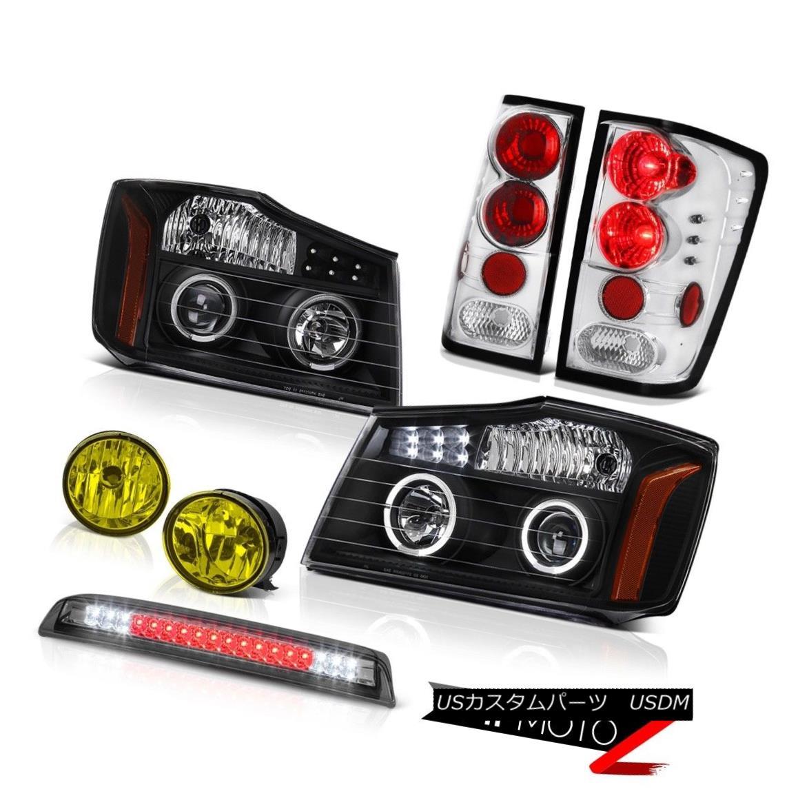 テールライト For 2004-2015 Titan 4X4 Projector Black Headlight Tail Light Fog Roof Brake LED 2004年?2015年Titan 4X4プロジェクターブラックヘッドライトテールライトフォグルーフブレーキLED
