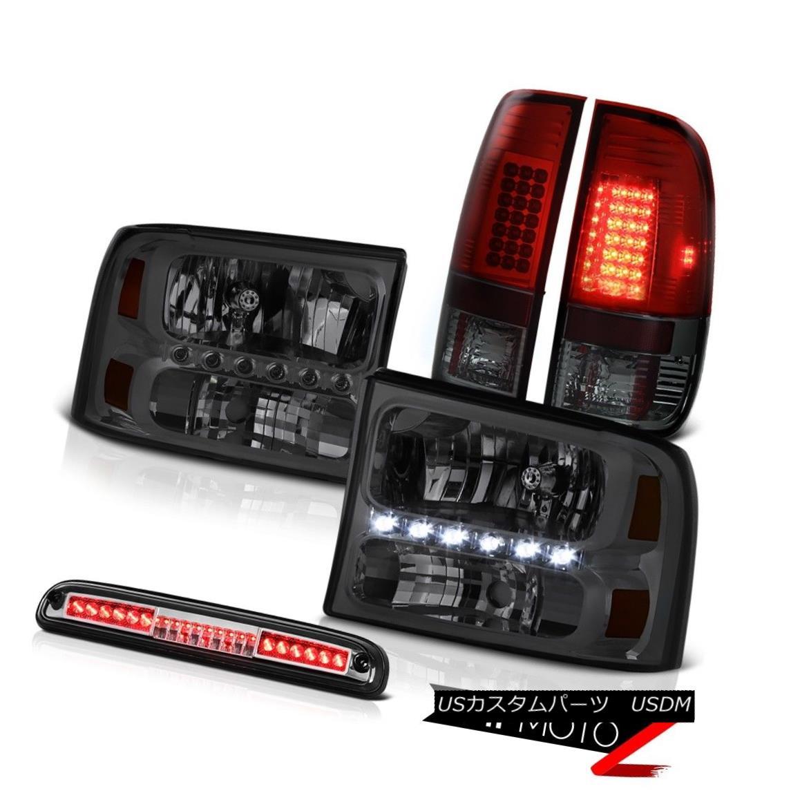 テールライト Left Right Smoke Headlight Red TailLight Roof Brake 99-04 F350 Harley Davidson 左右煙ヘッドライト赤テールライトルーフブレーキ99-04 F350ハーレーダビッドソン
