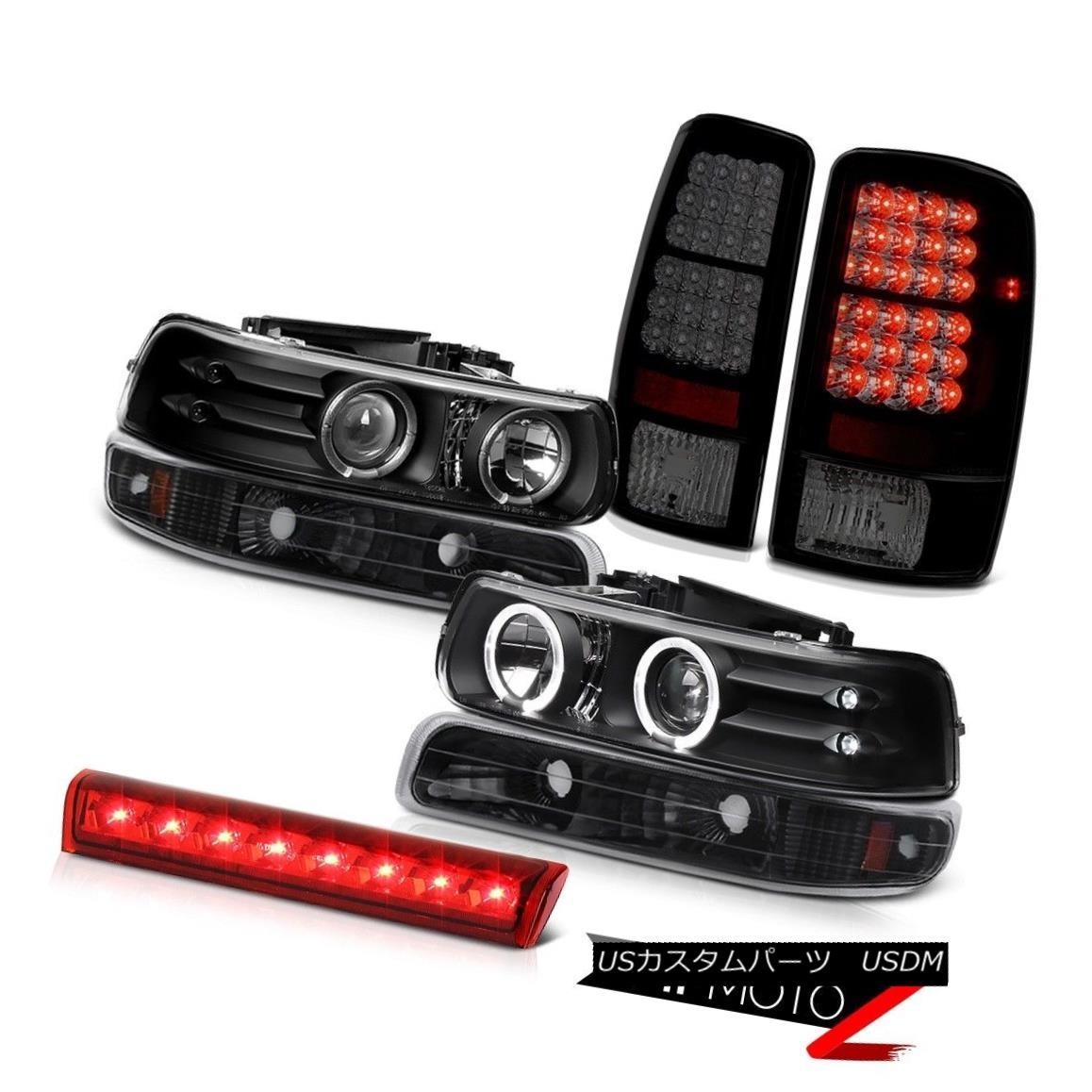 テールライト Twin Halo LED Headlamps Brake Tail Lights Red 00 01 02 03 04 05 06 Suburban 6.0L ツインハローLEDヘッドランプブレーキテールライトレッド00 01 02 03 04 05 06郊外の6.0L